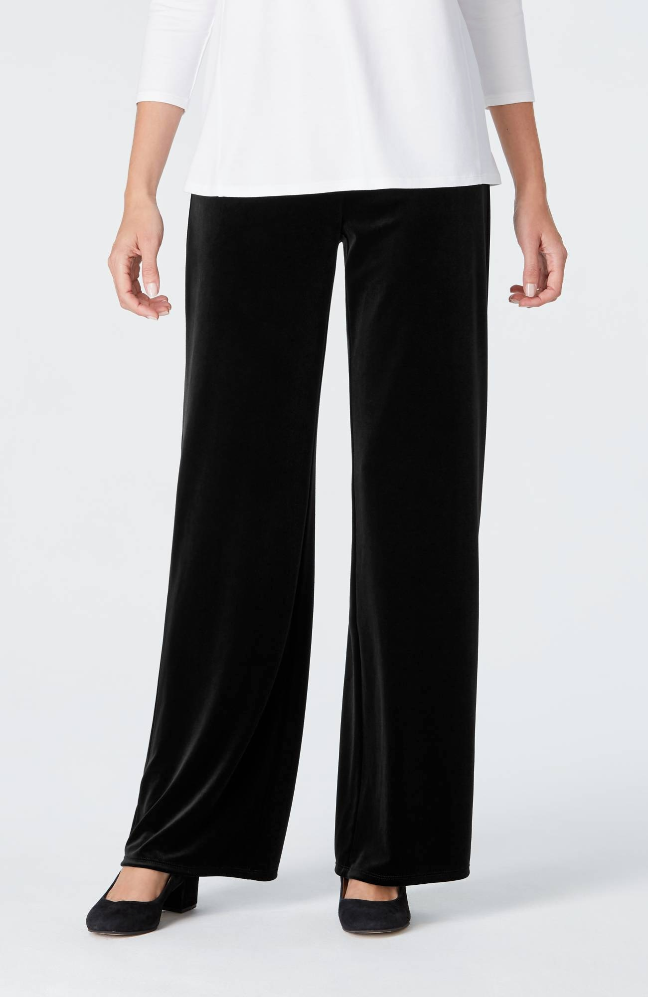 Wearever Smooth-Fit full-leg velvet pants