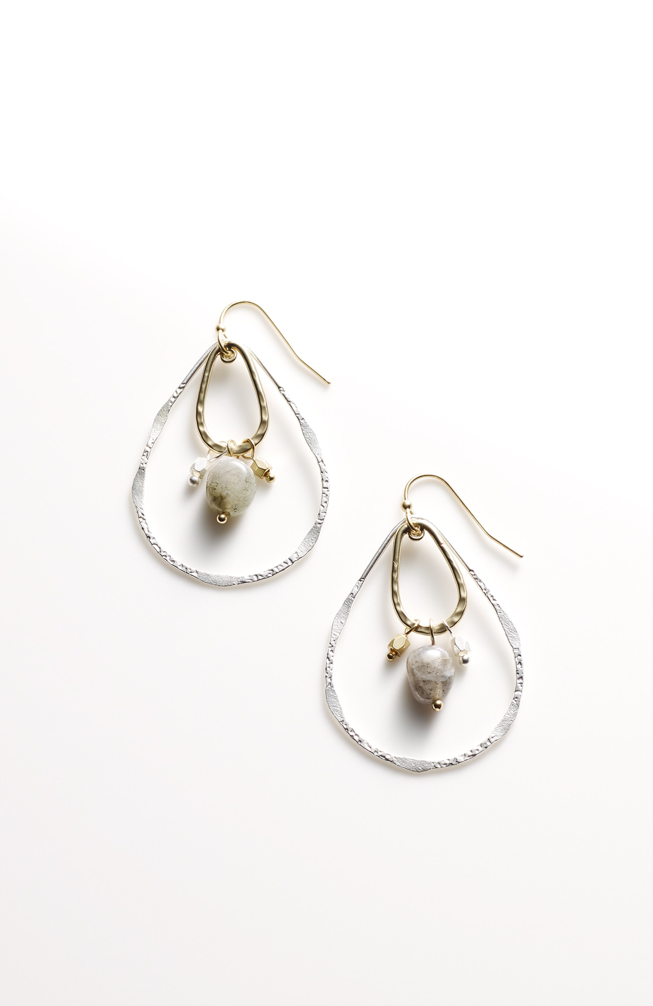 layered-hoops drop earrings
