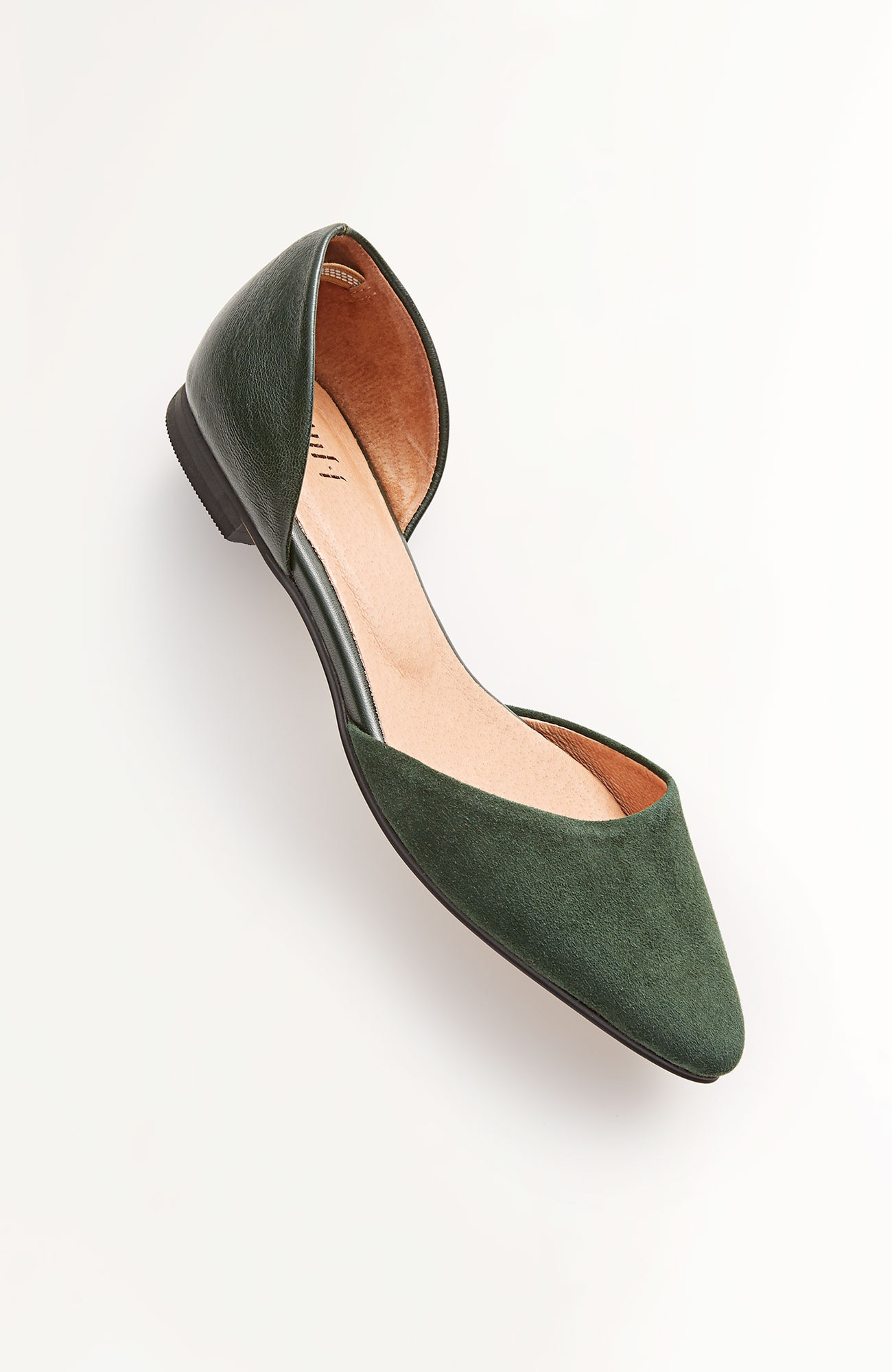 suede & leather d'Orsay flats