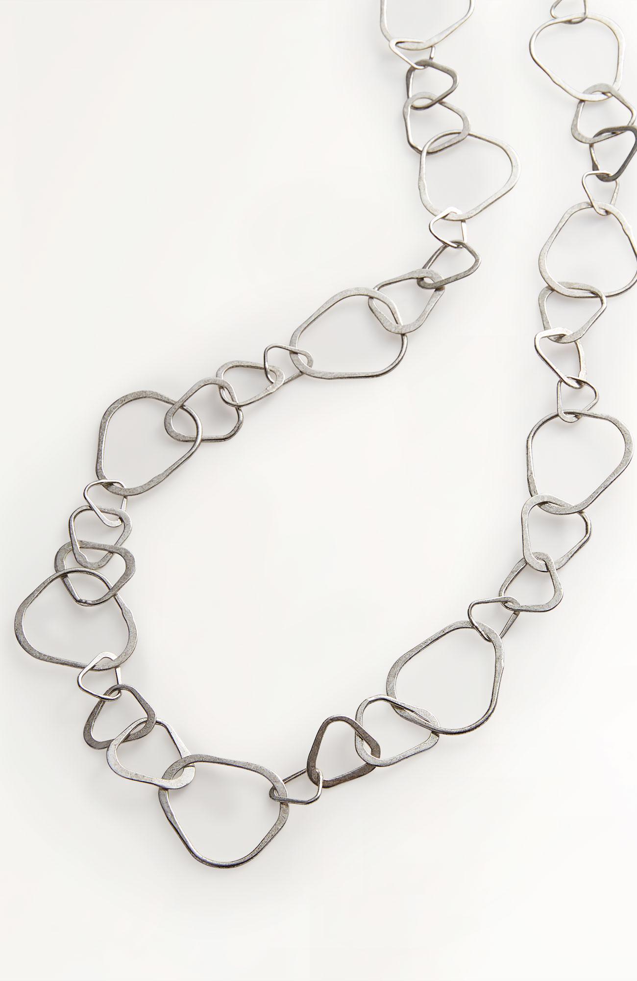 mixed-rings wrap necklace