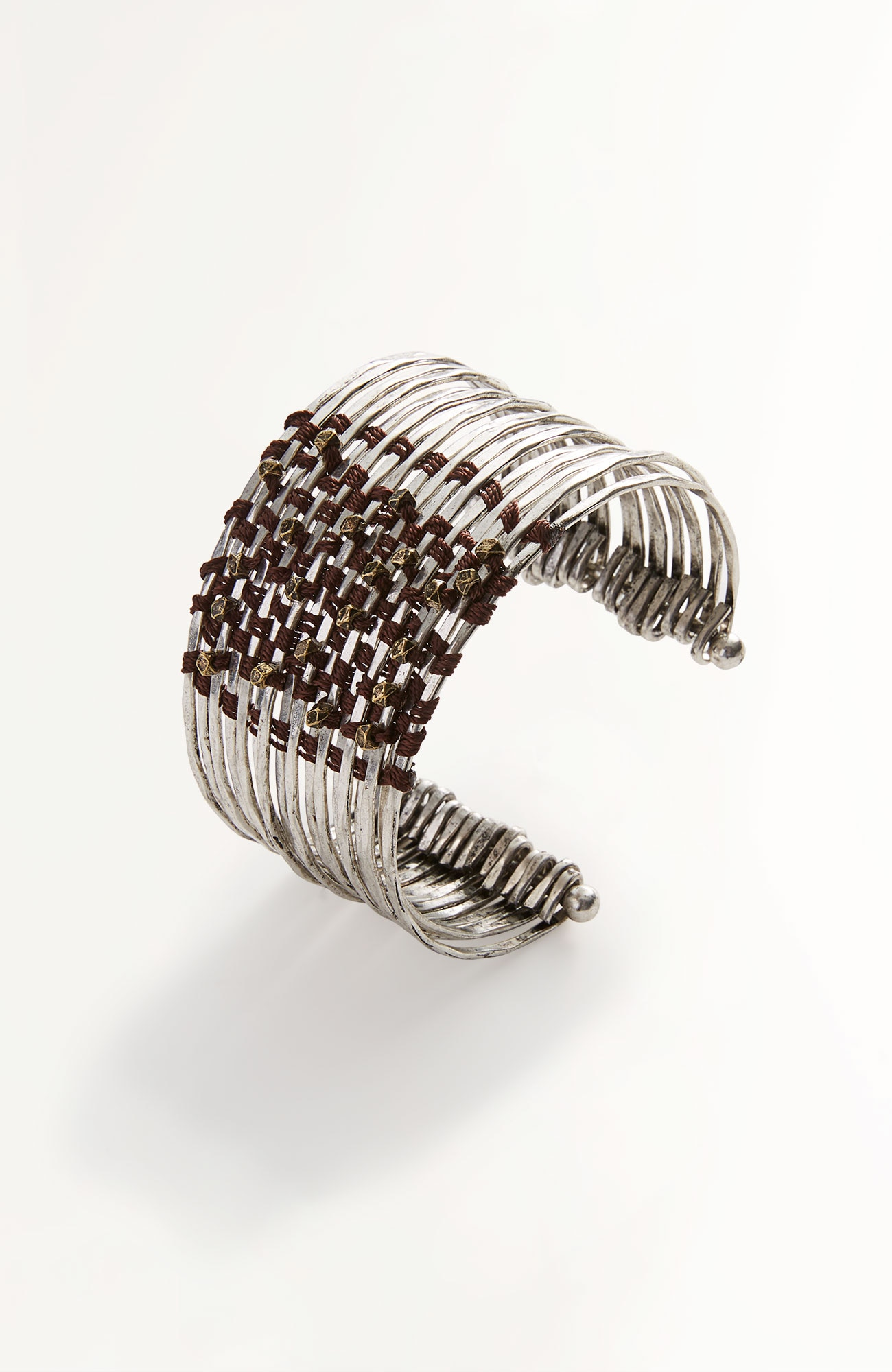 wrapped-metal cuff bracelet