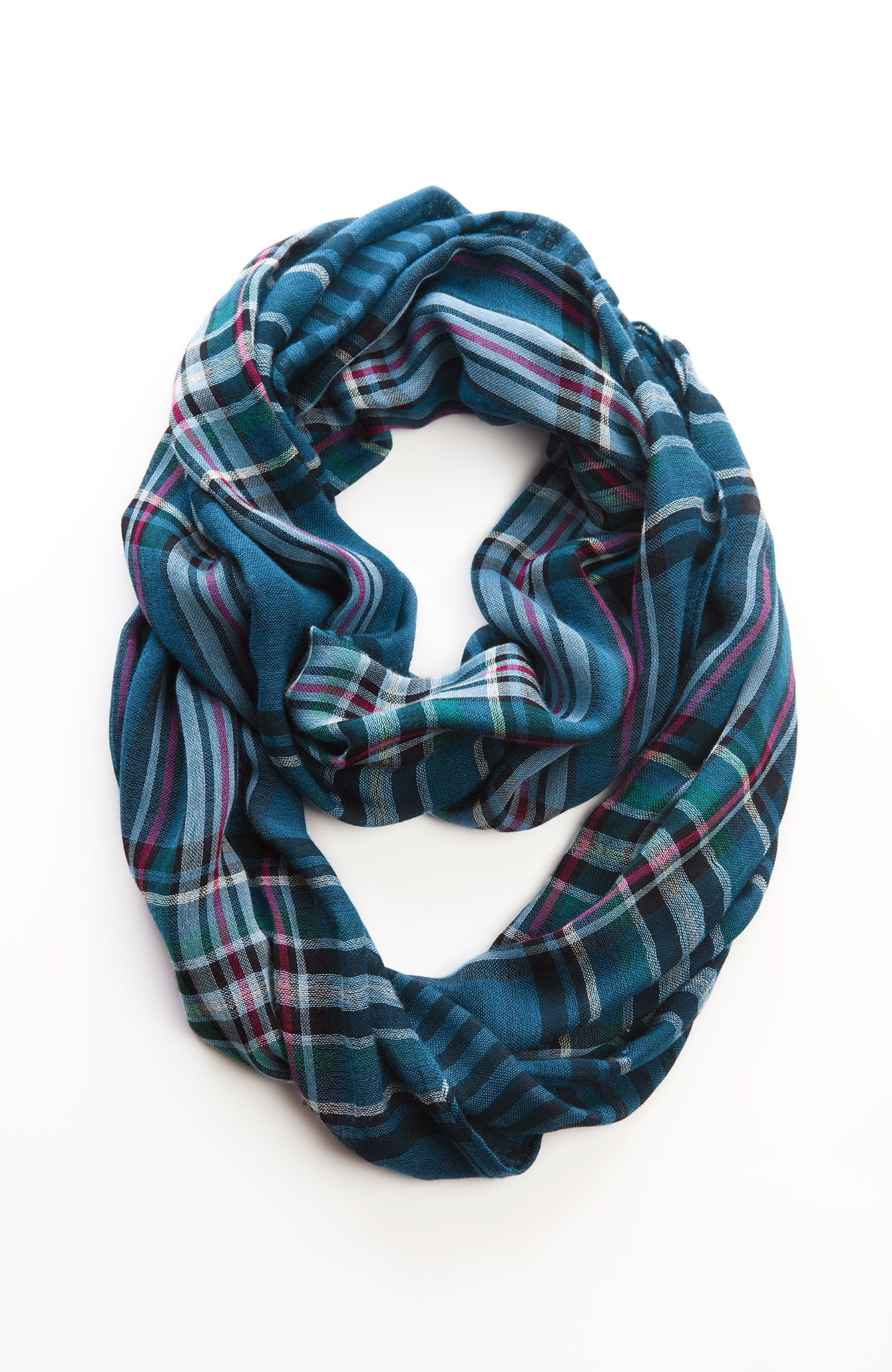 plaid & stripes infinity scarf