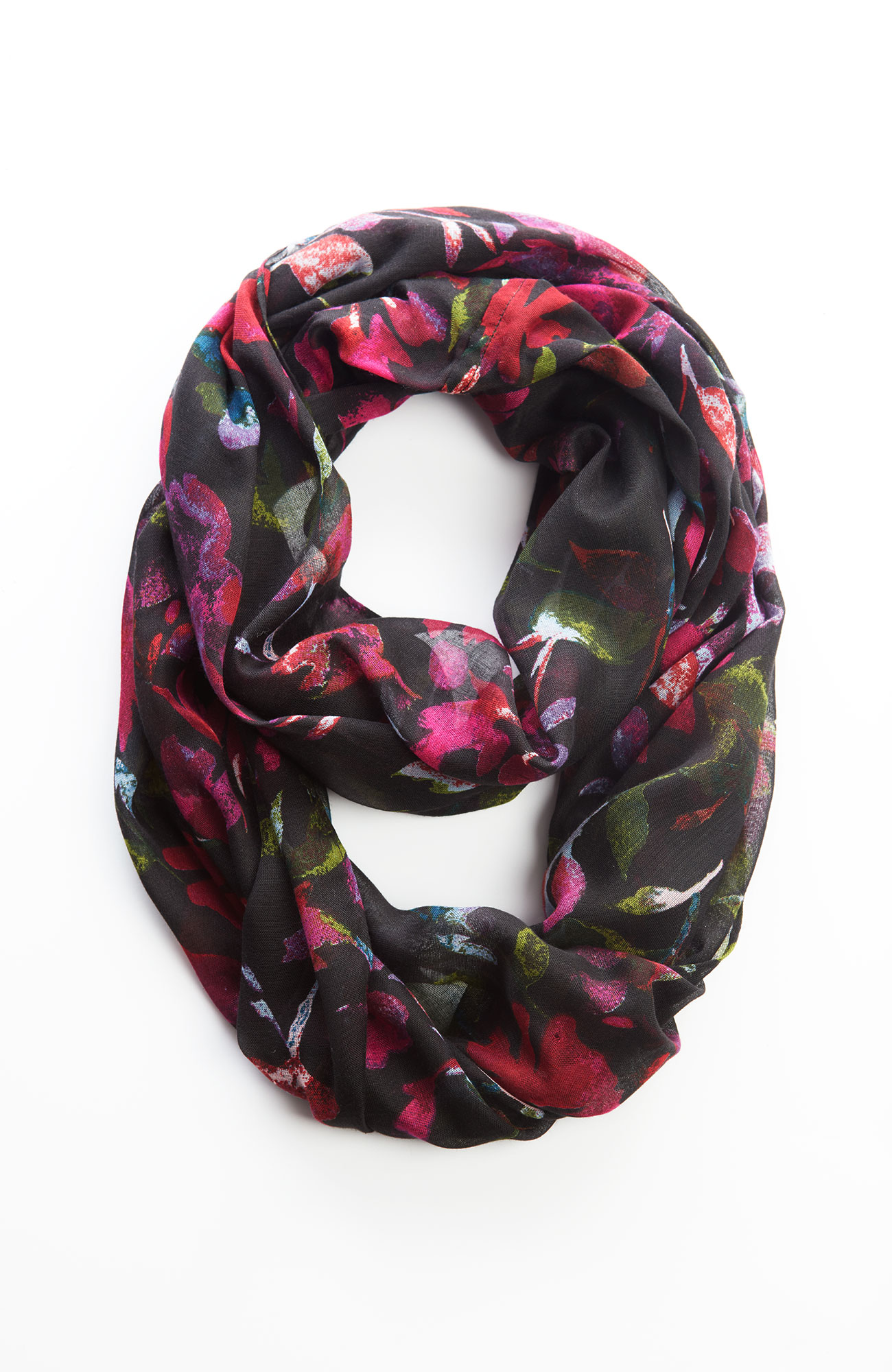 watercolor garden infinity scarf