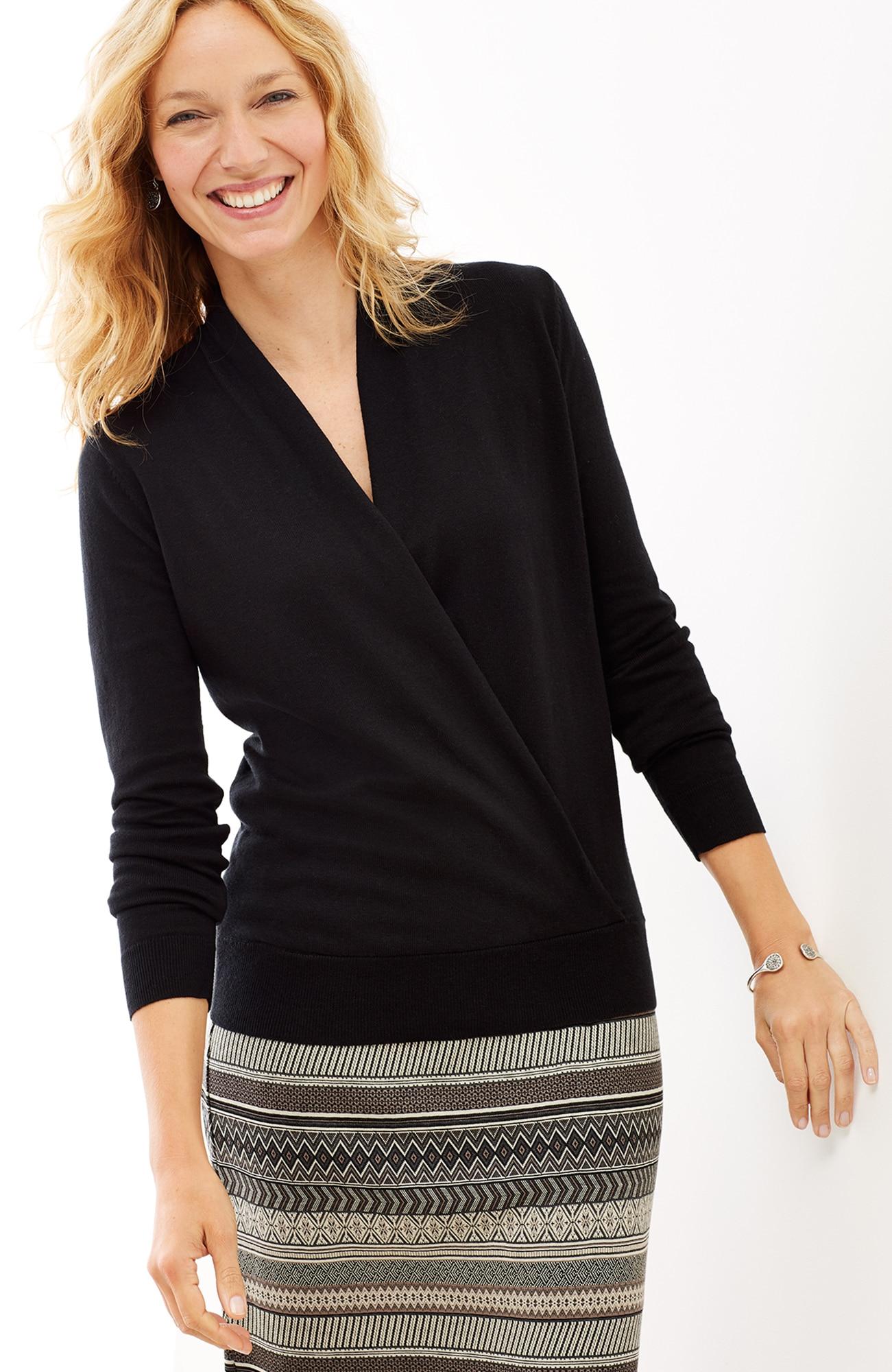 Julia wrap pullover