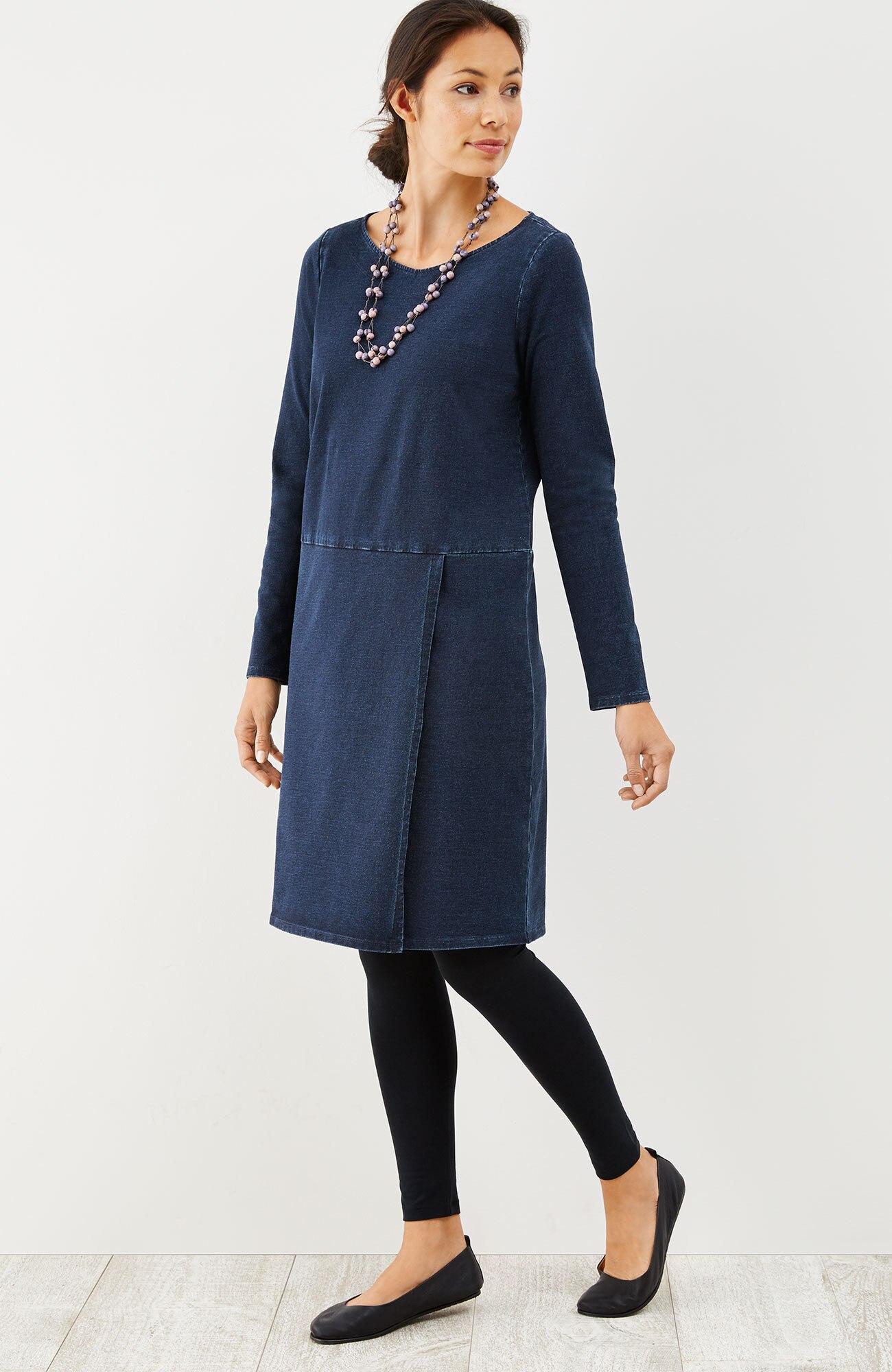 Pure Jill indigo wrap-style dress