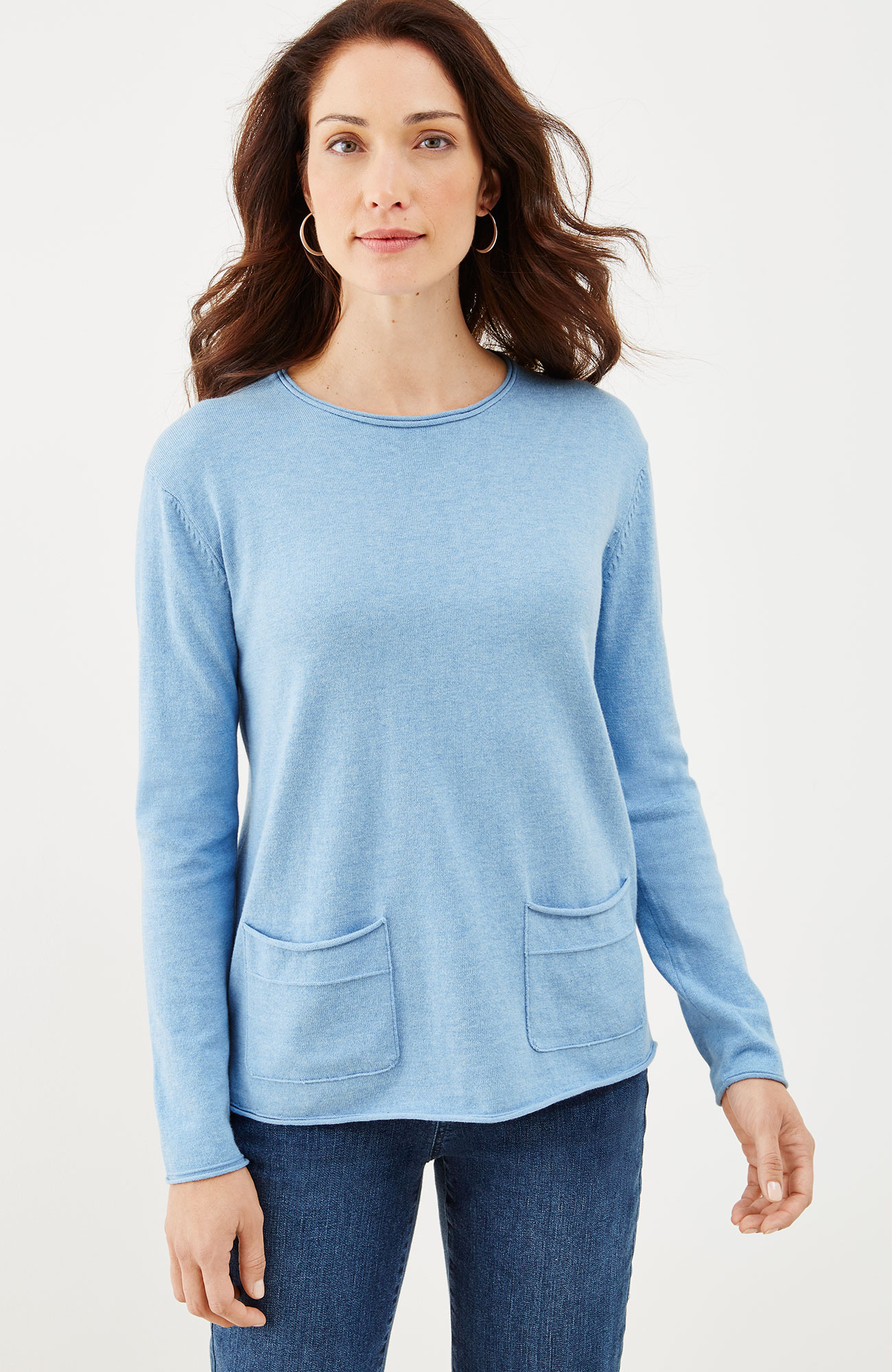 two-pocket pullover