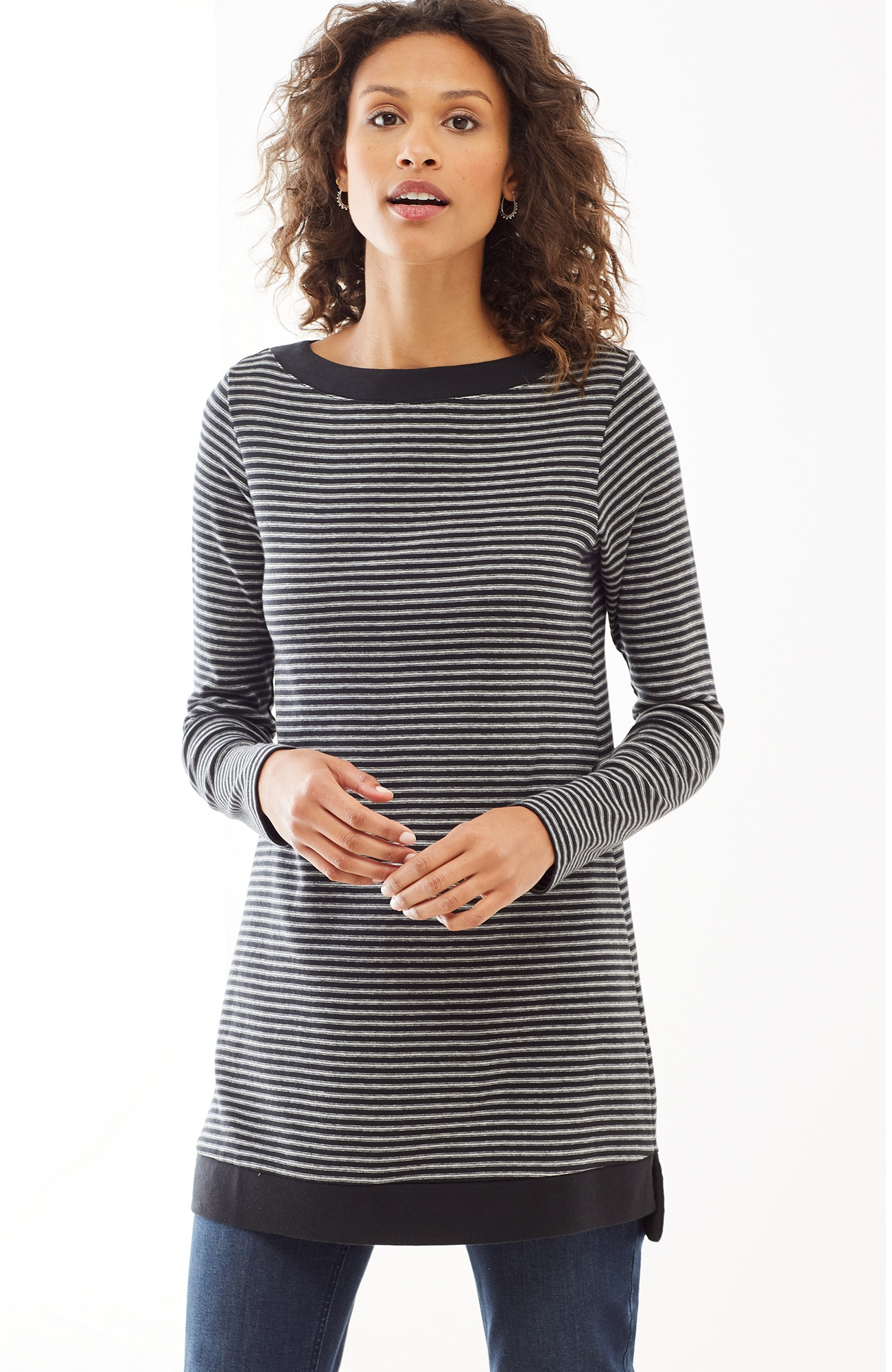 perfect pima long-sleeve tunic