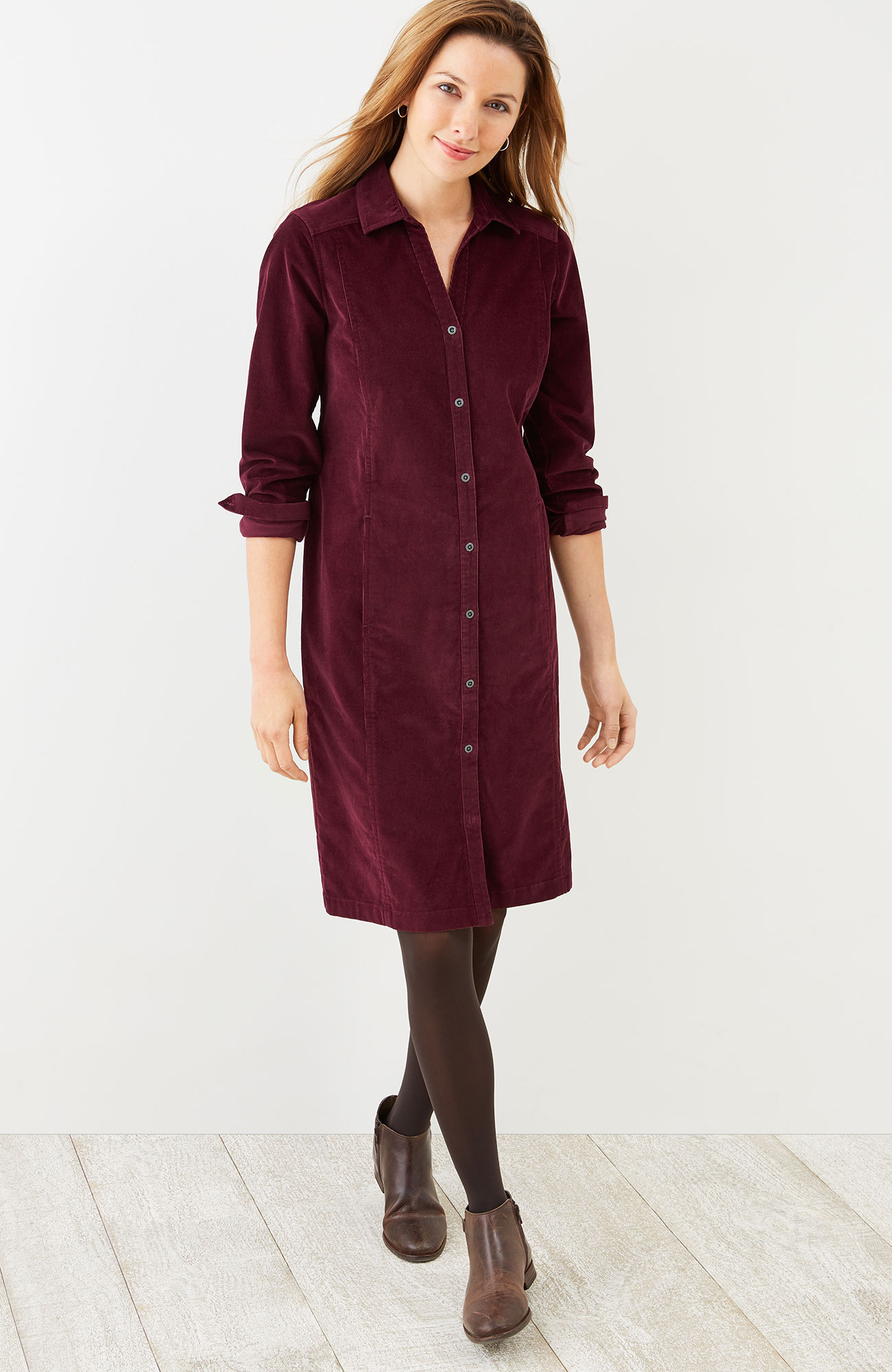 pincord shirtdress
