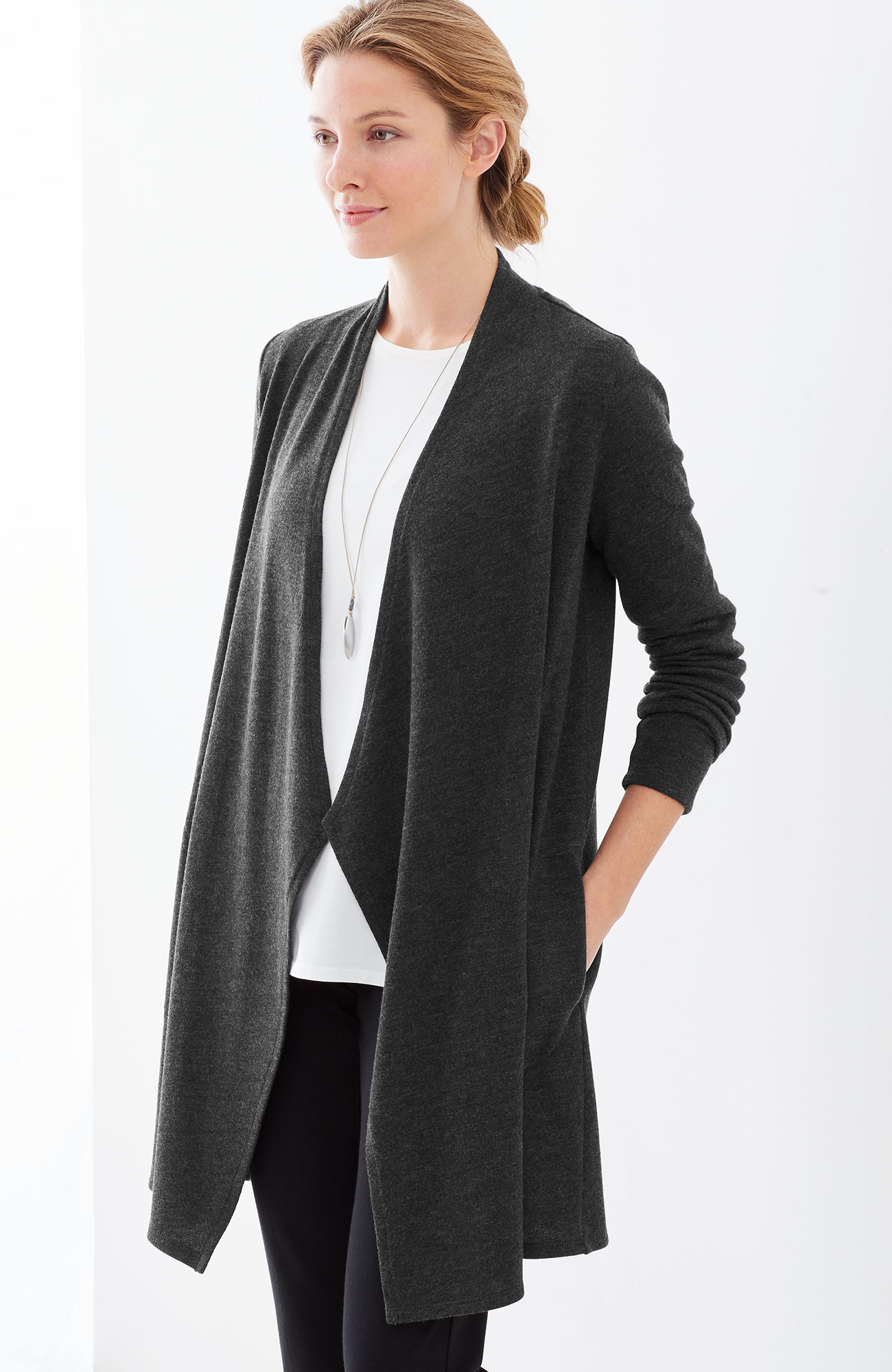 Pure Jill draped-front jacket