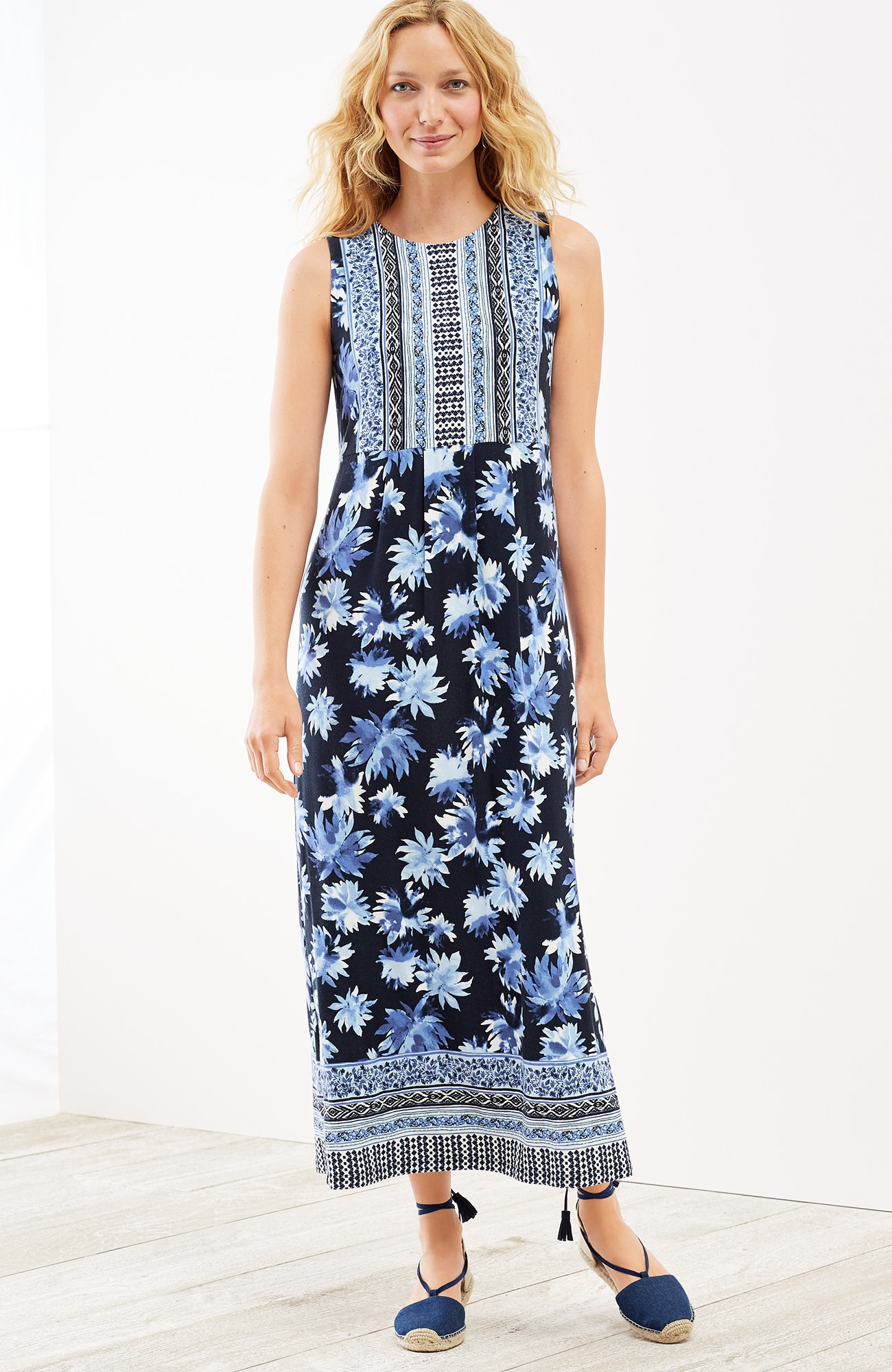 floral Empire-waist maxi dress