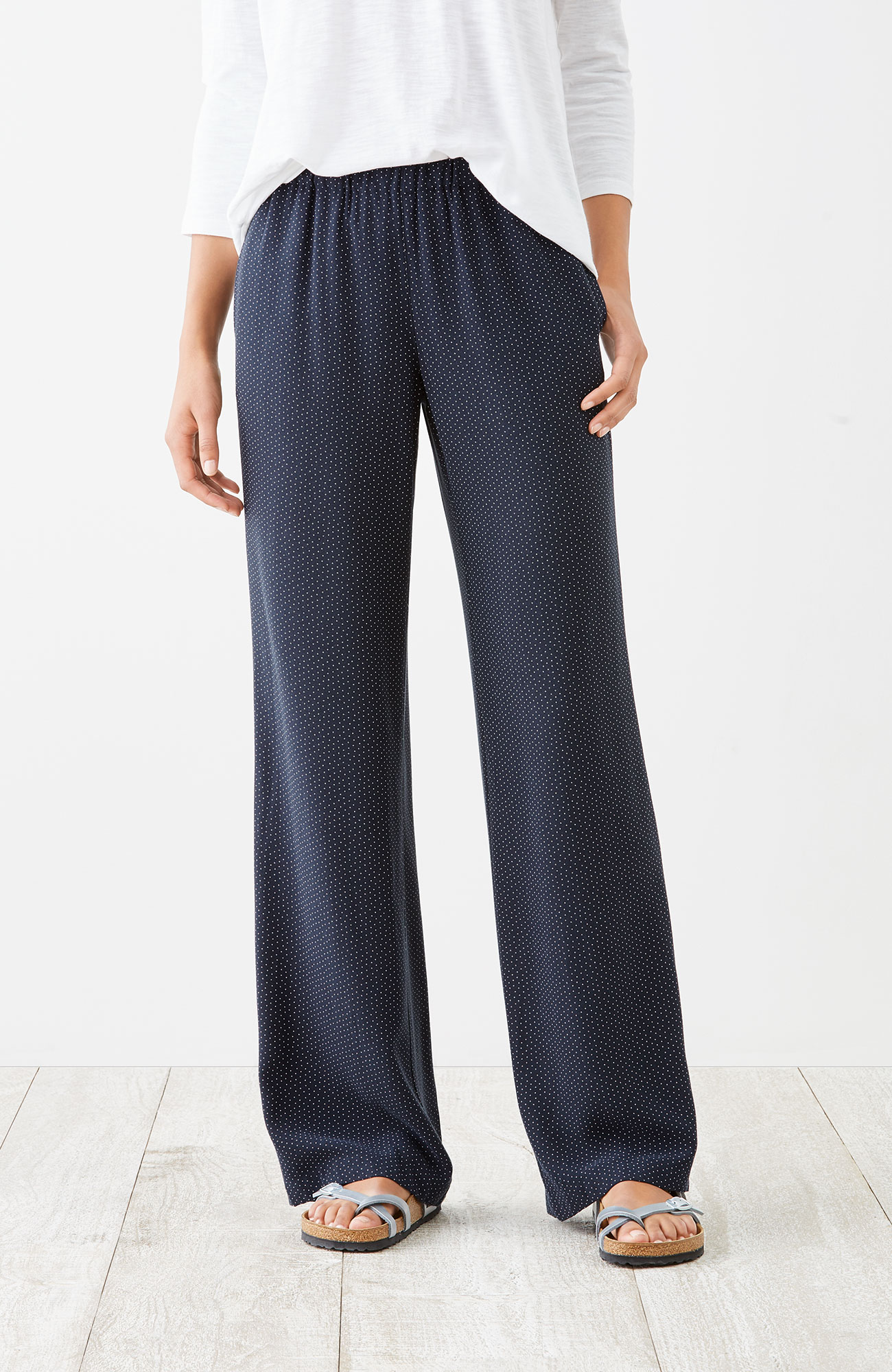 soft rayon-twill pants
