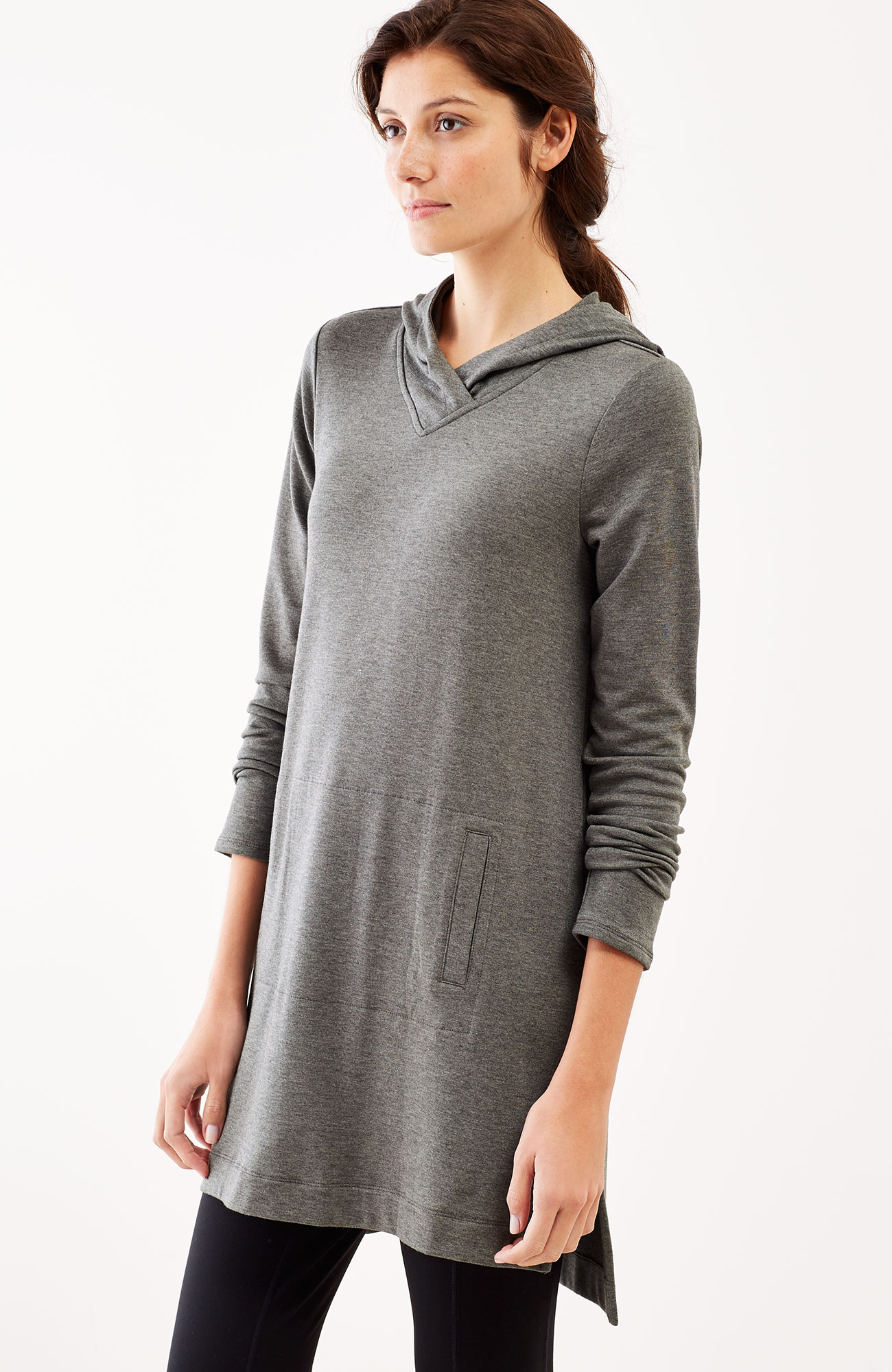Pure Jill Luxe Tencel® hooded tunic