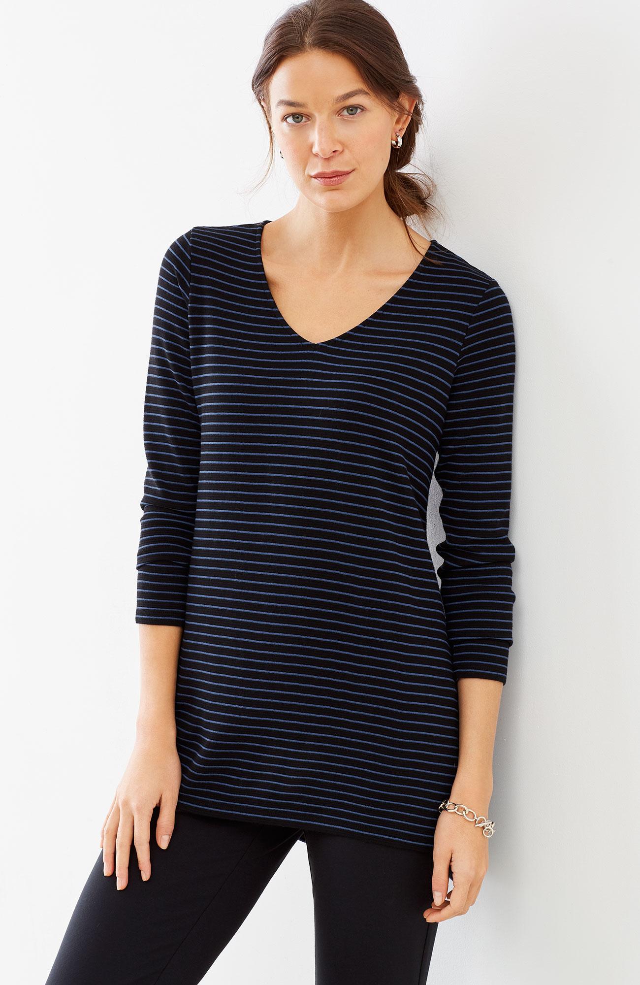 Wearever ottoman-knit V-neck tunic