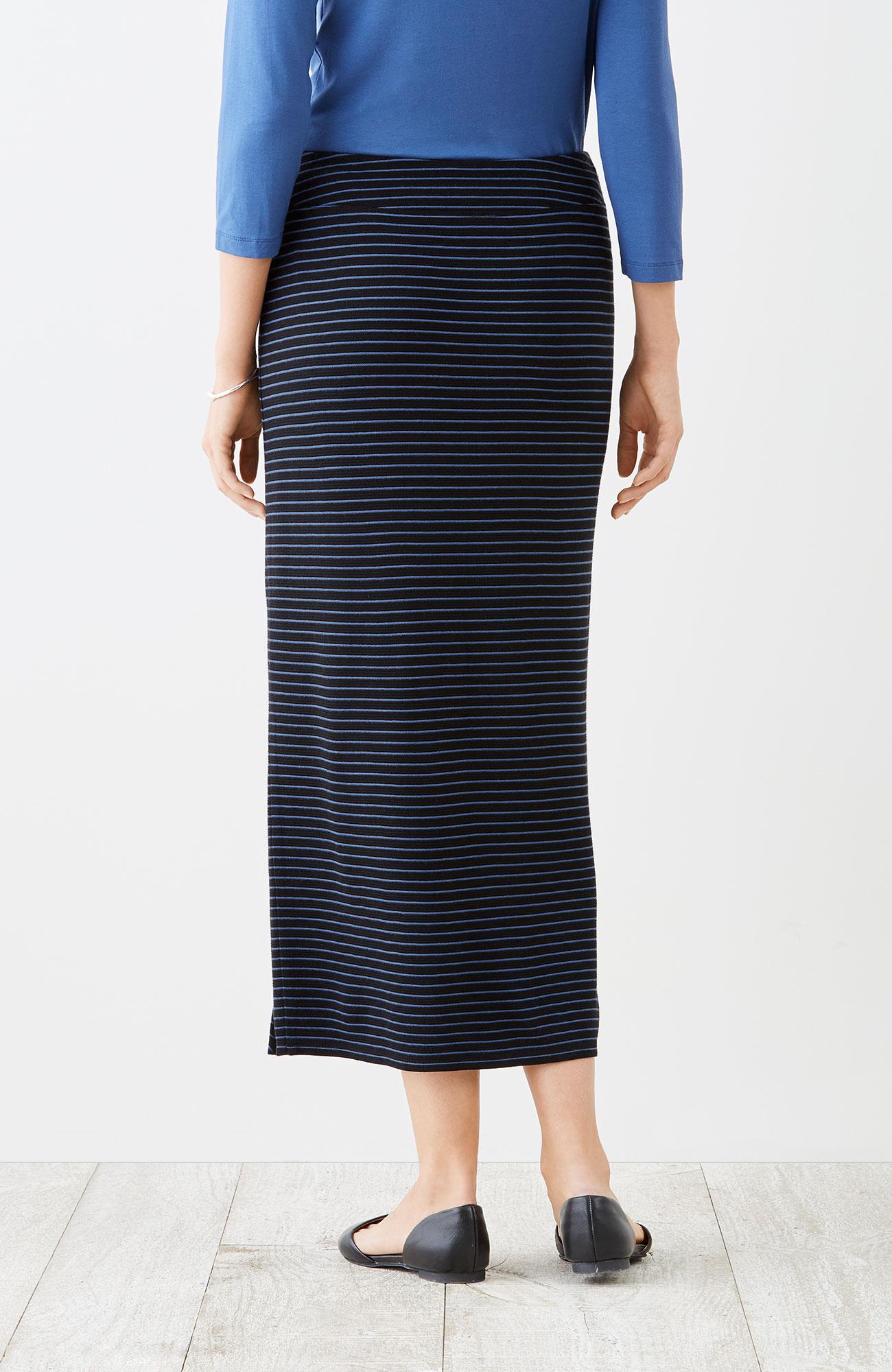 Wearever ottoman-knit striped skirt
