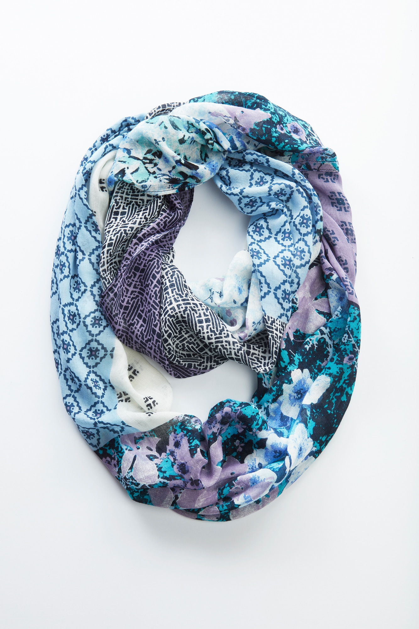 painted patchwork infinity scarf