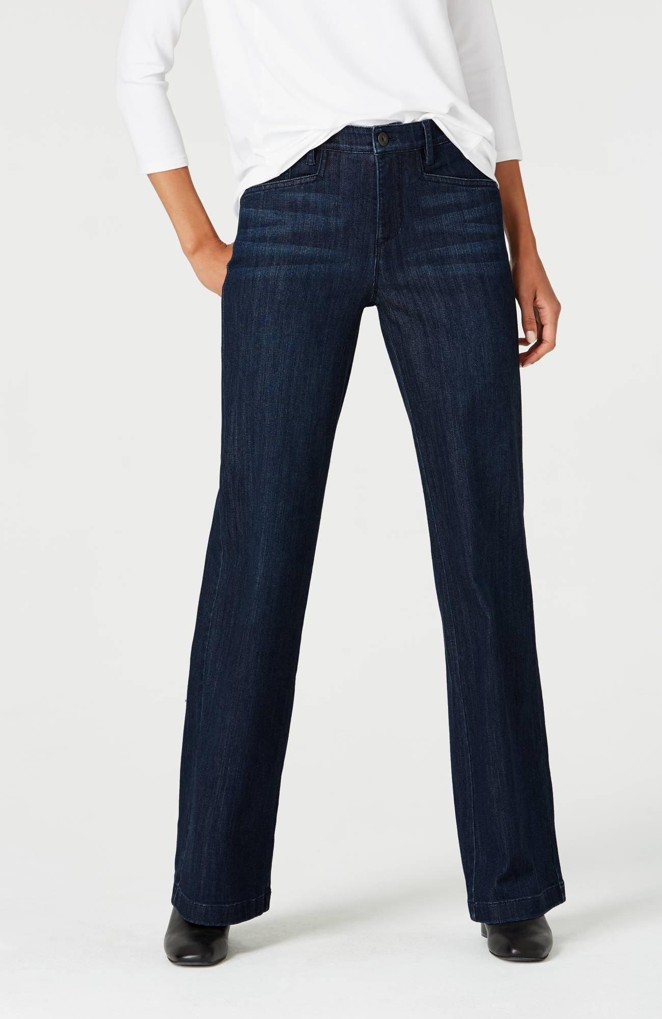 Smooth-Fit full-leg stretch jeans