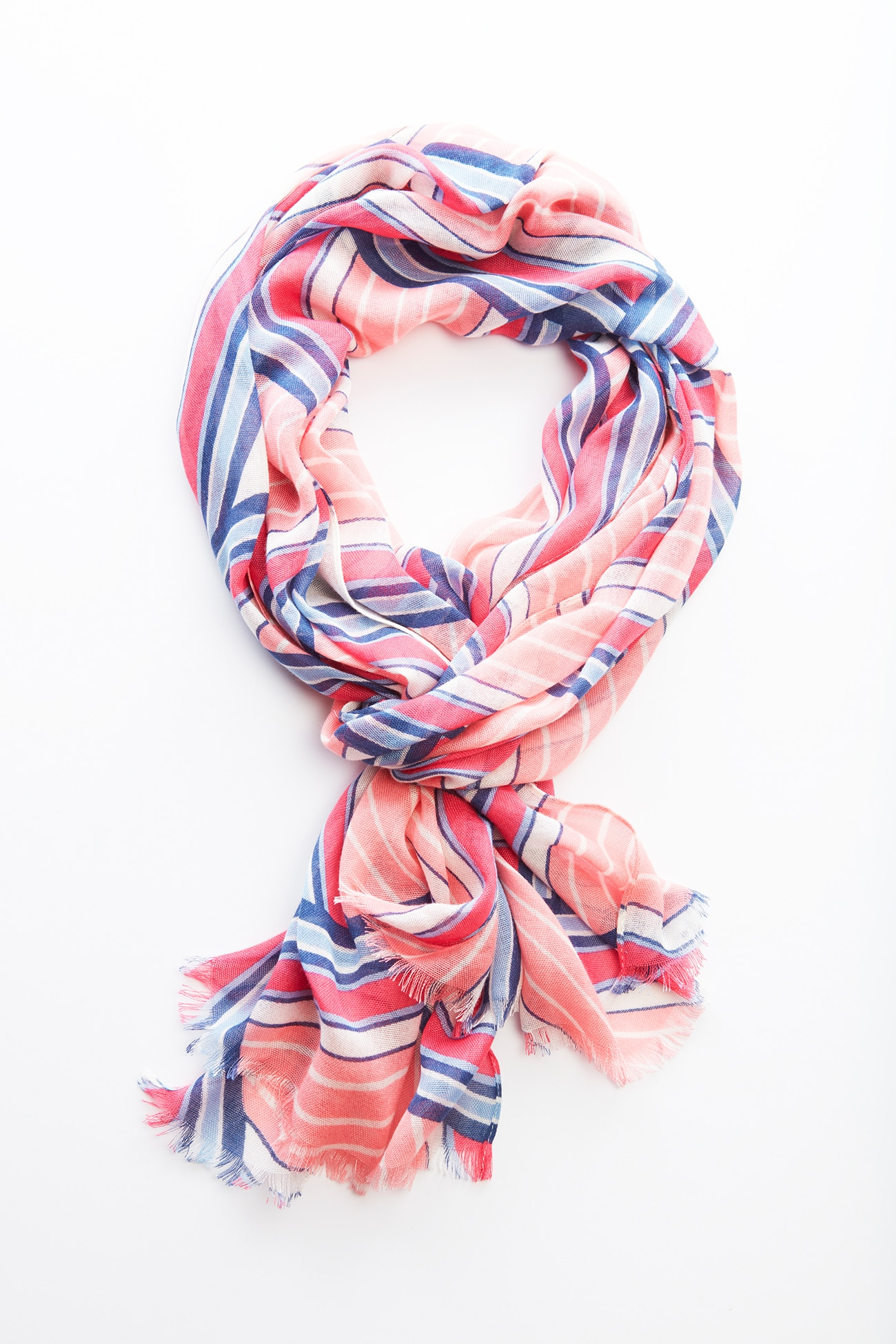 directional-stripes scarf