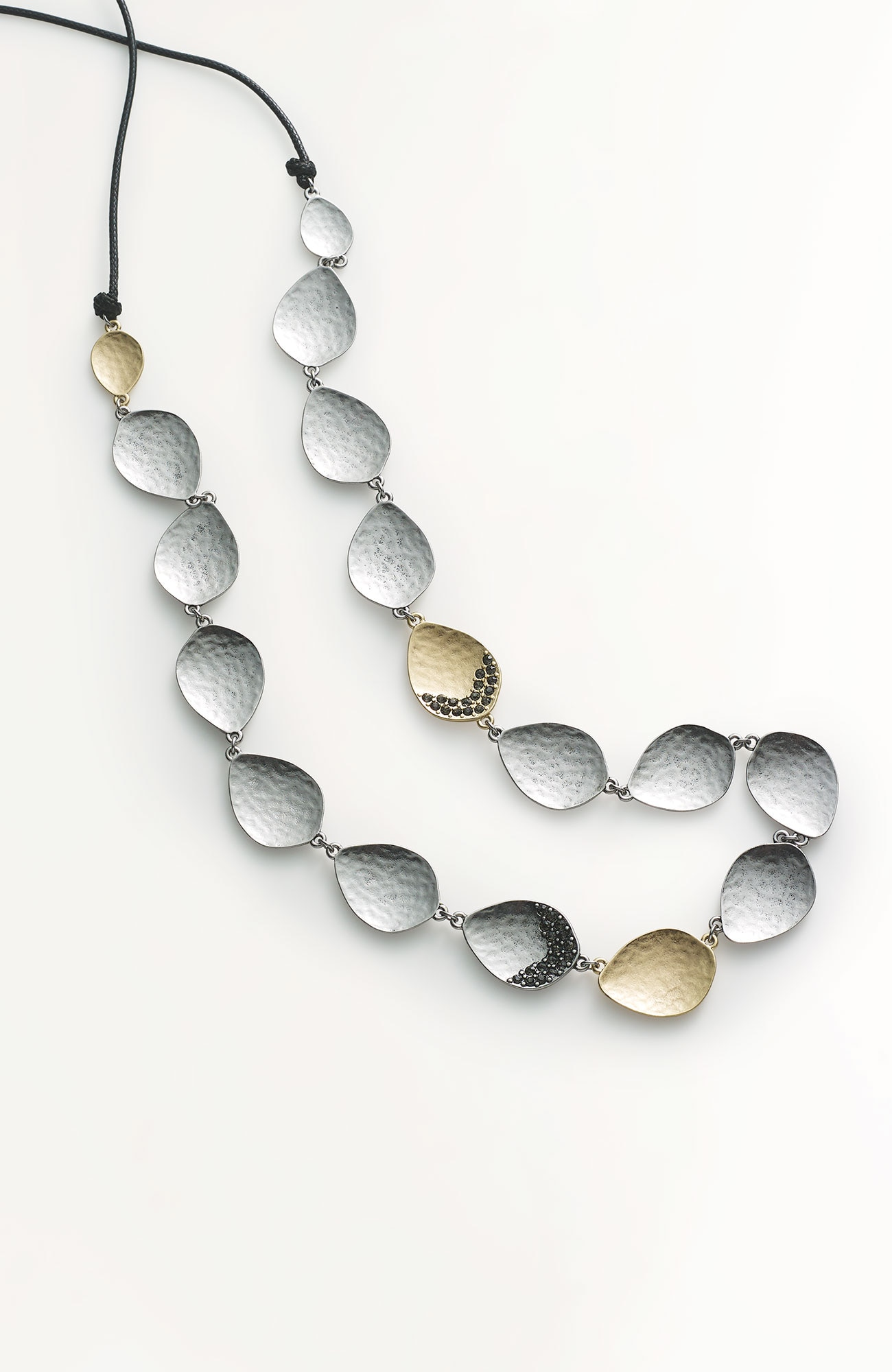 pavé teardrop necklace