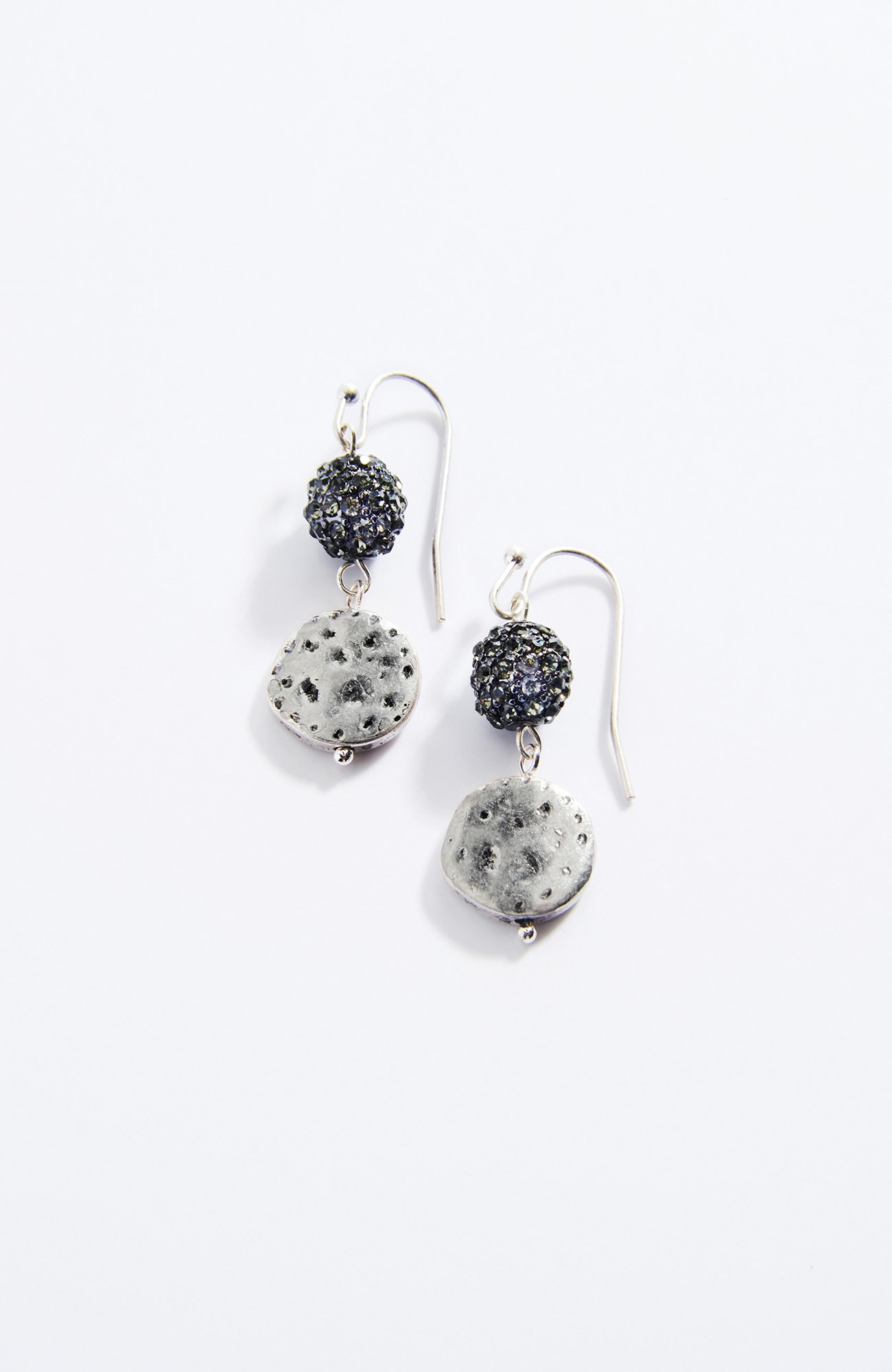 pavé & disk earrings