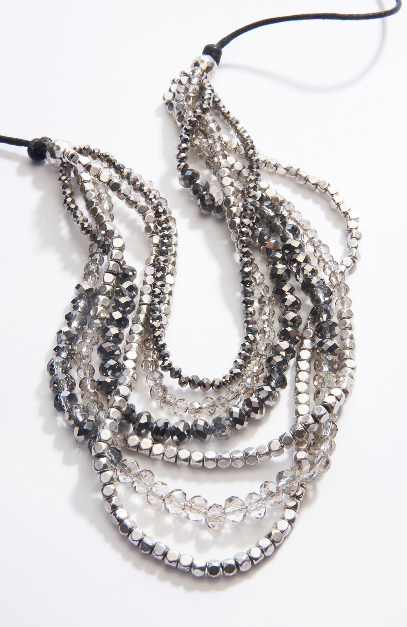radiant beads cascading necklace