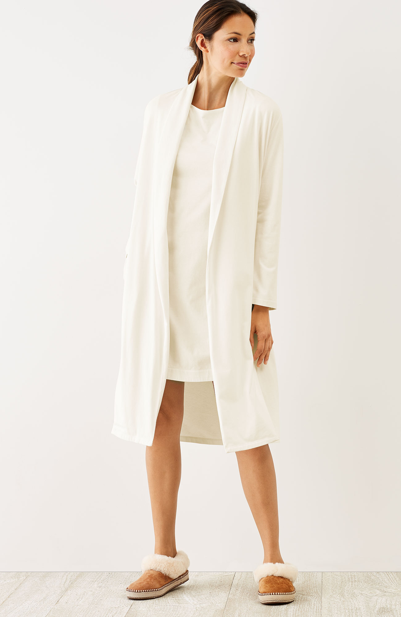 Pure Jill Sleep brushed robe