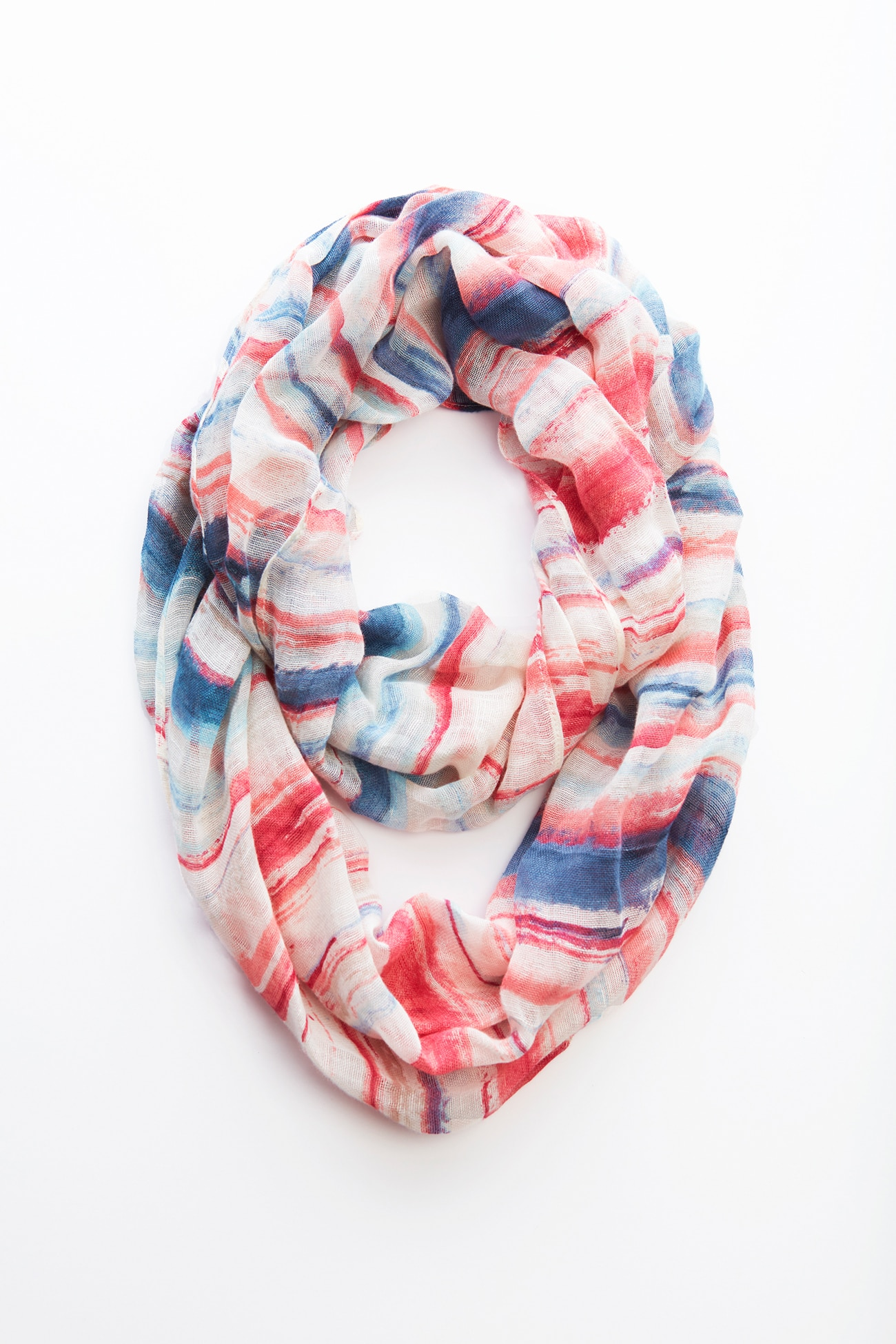 Pure Jill painterly striped infinity scarf