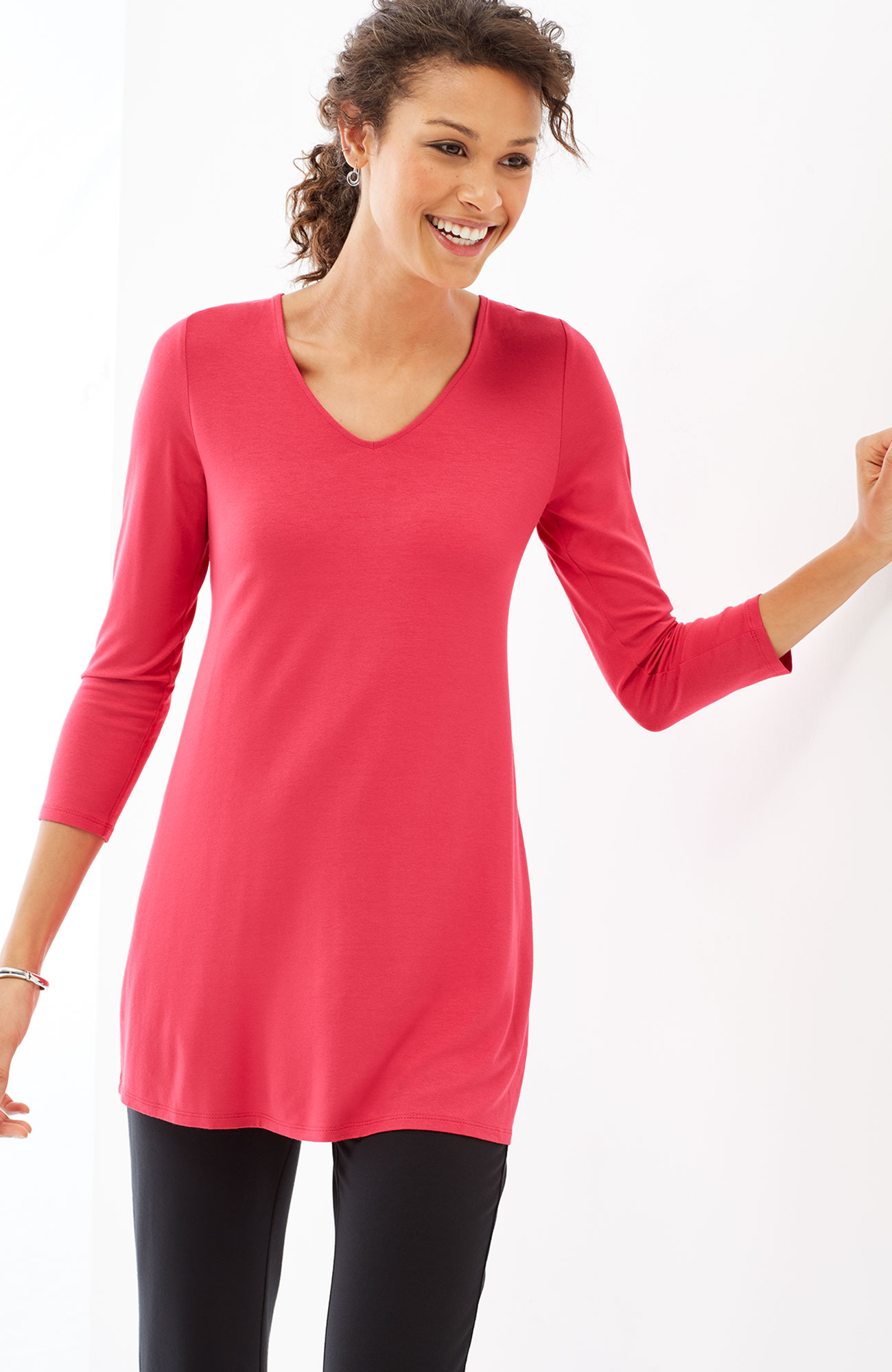 Wearever buttoned-back tunic