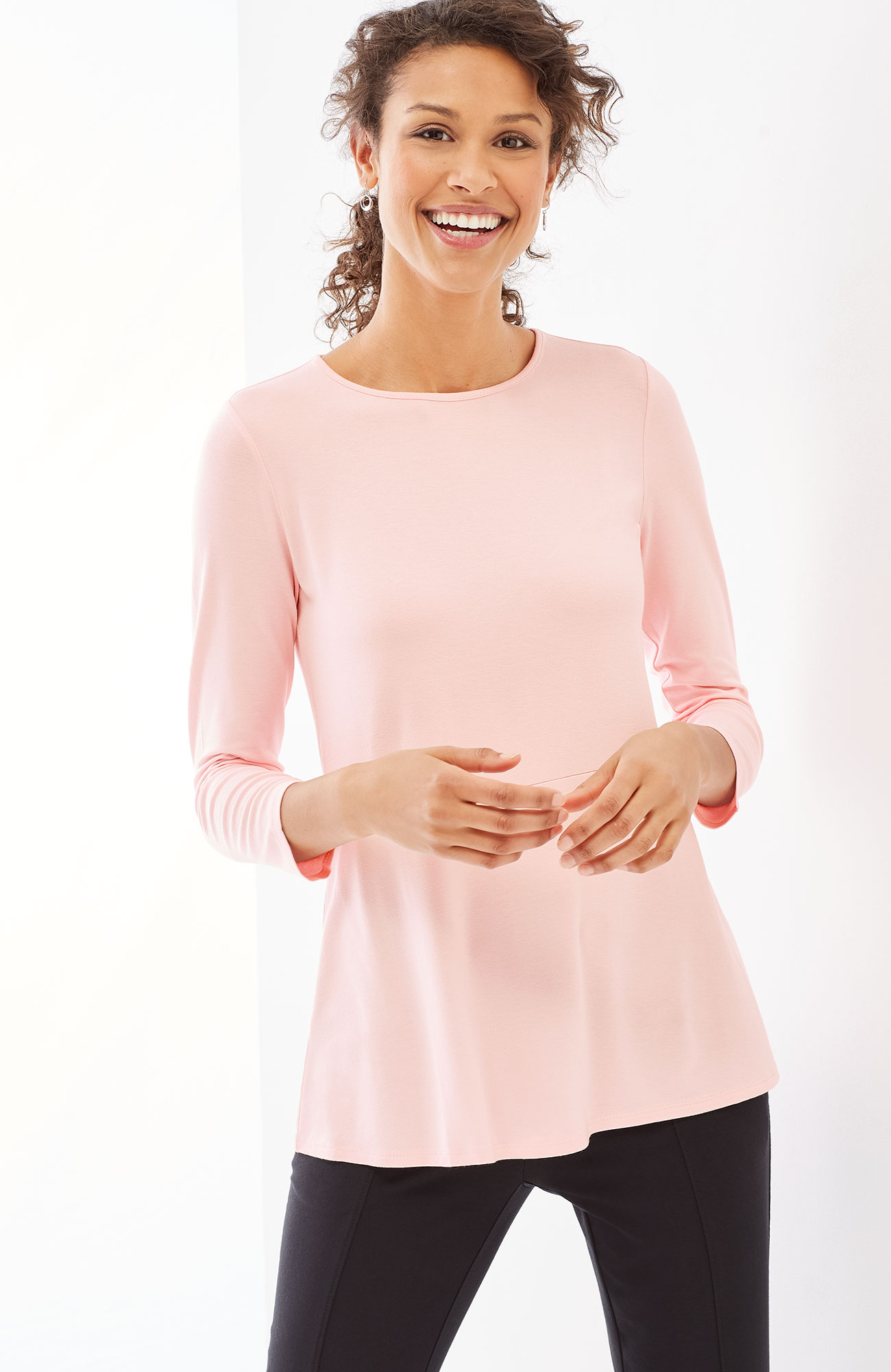 Wearever 3/4-sleeve peplum top