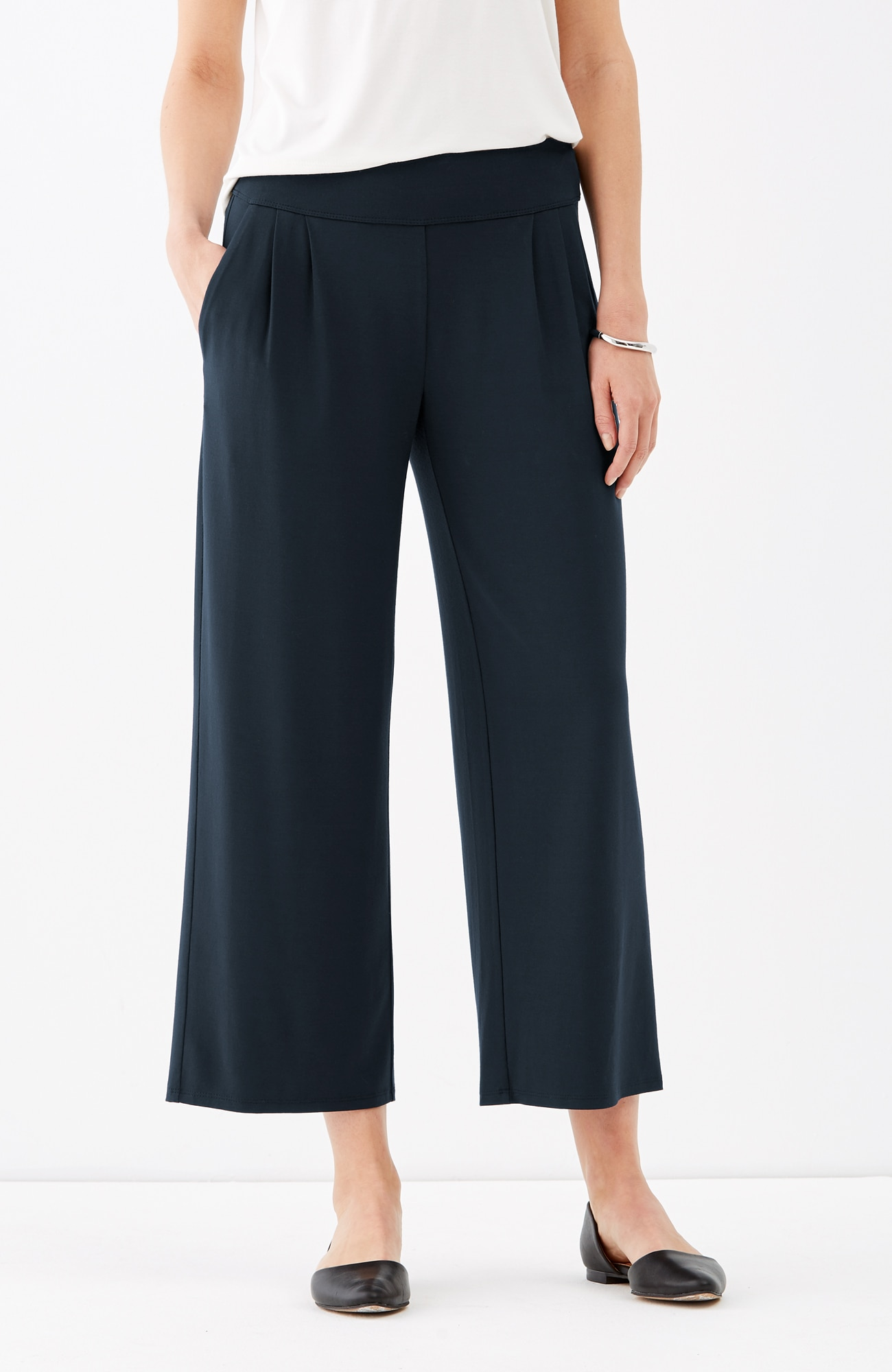 Wearever pleated cropped pants