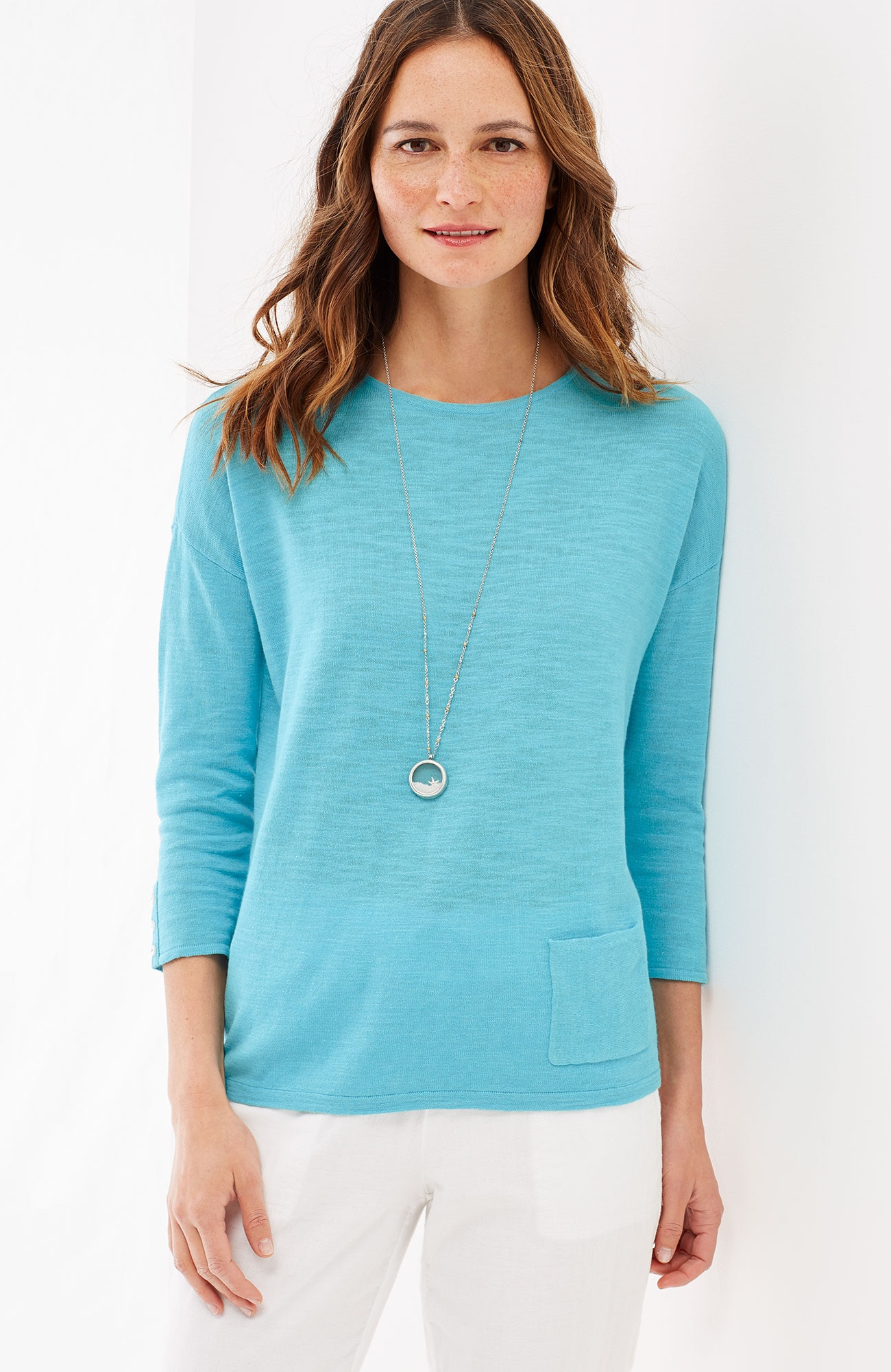 easy linen & cotton pullover