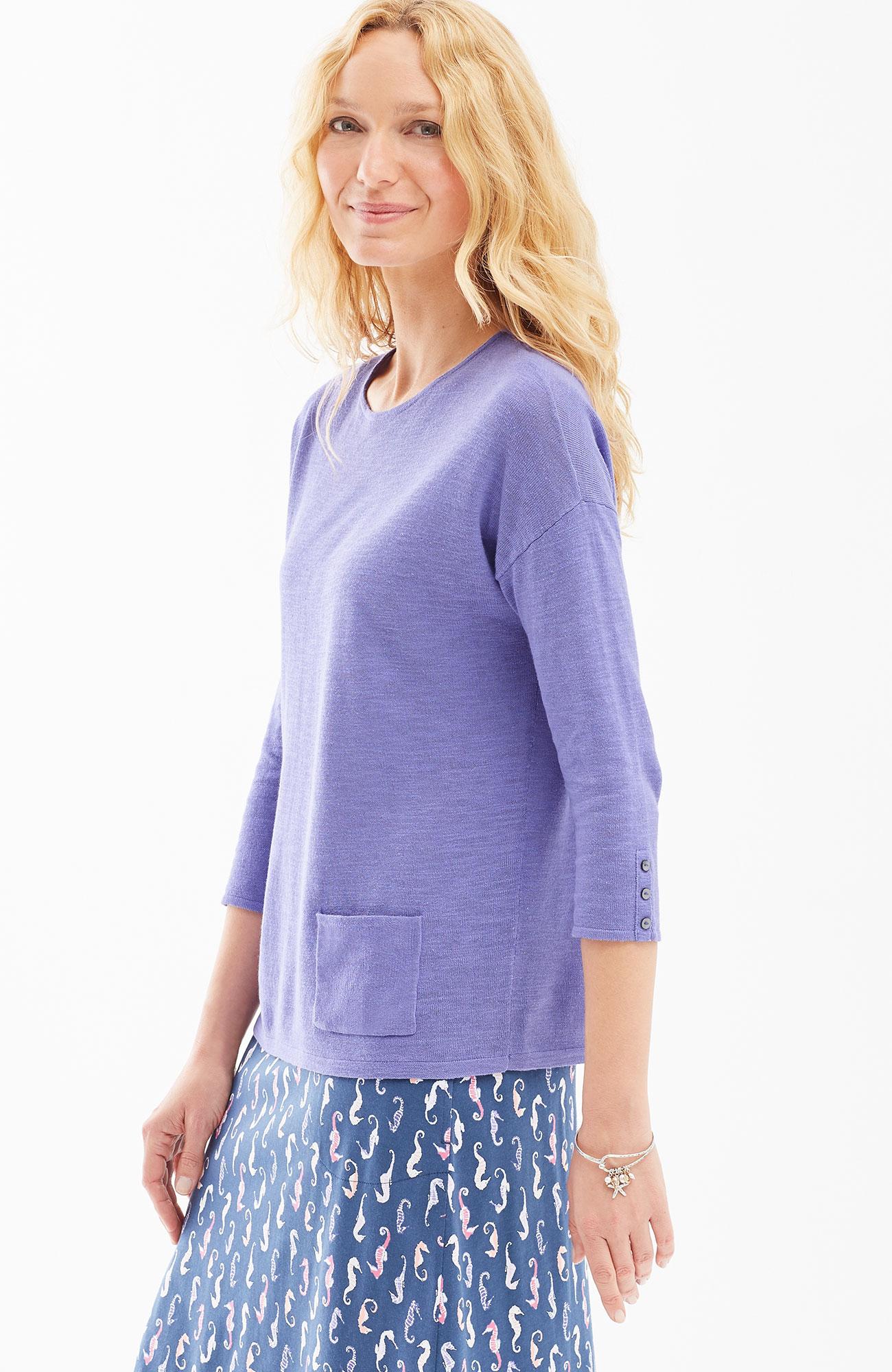 easy linen & cotton pullover