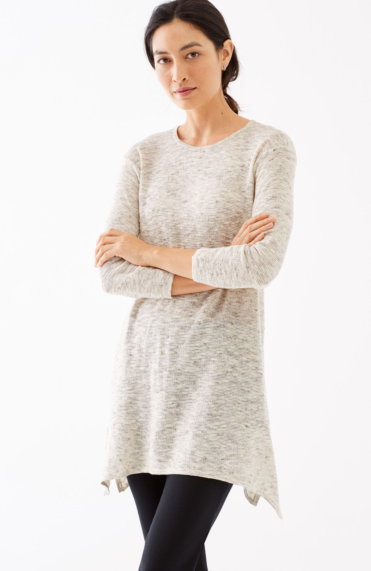 Pure Jill mélange sweater tunic