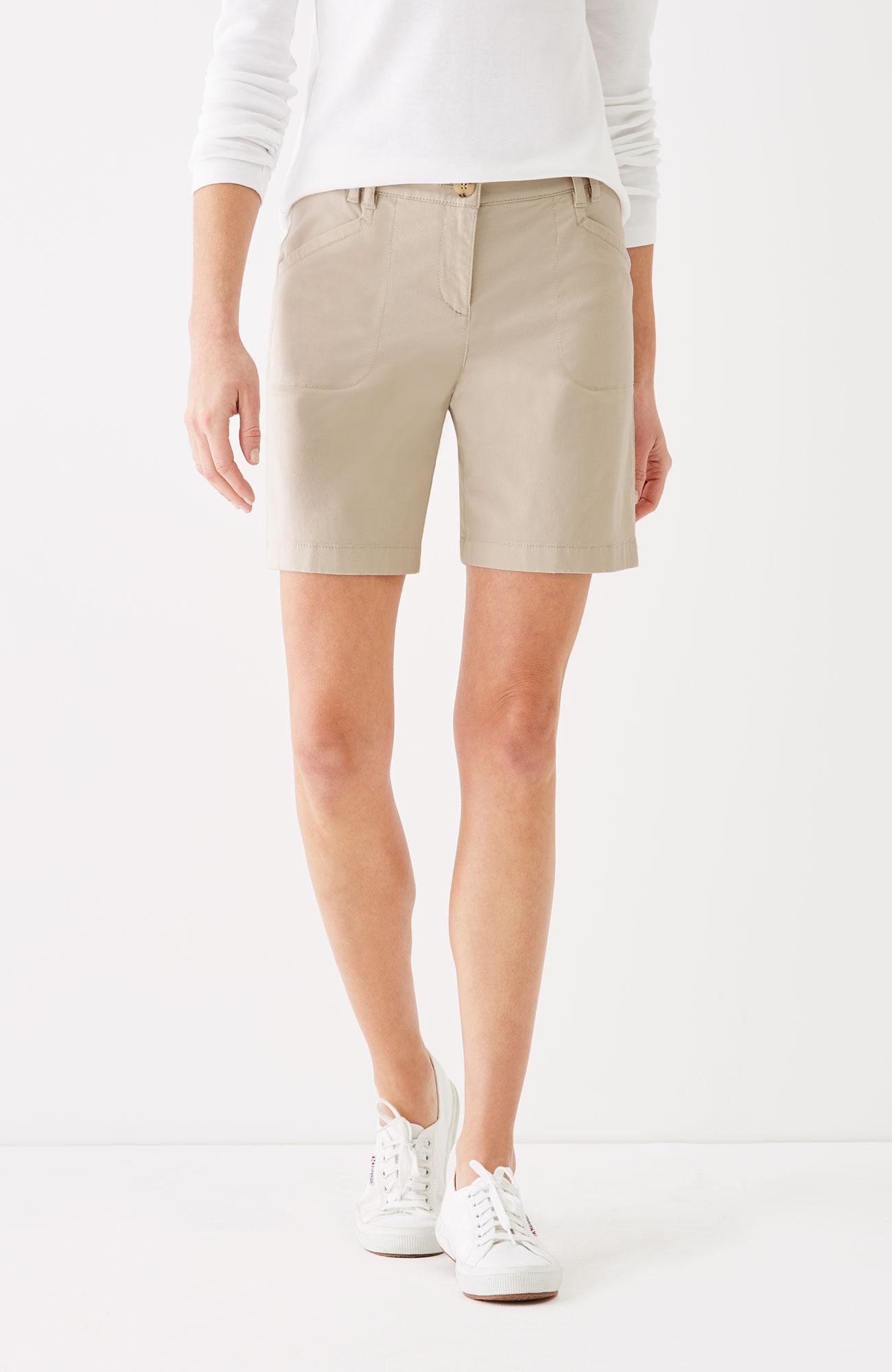 brushed-twill shorts