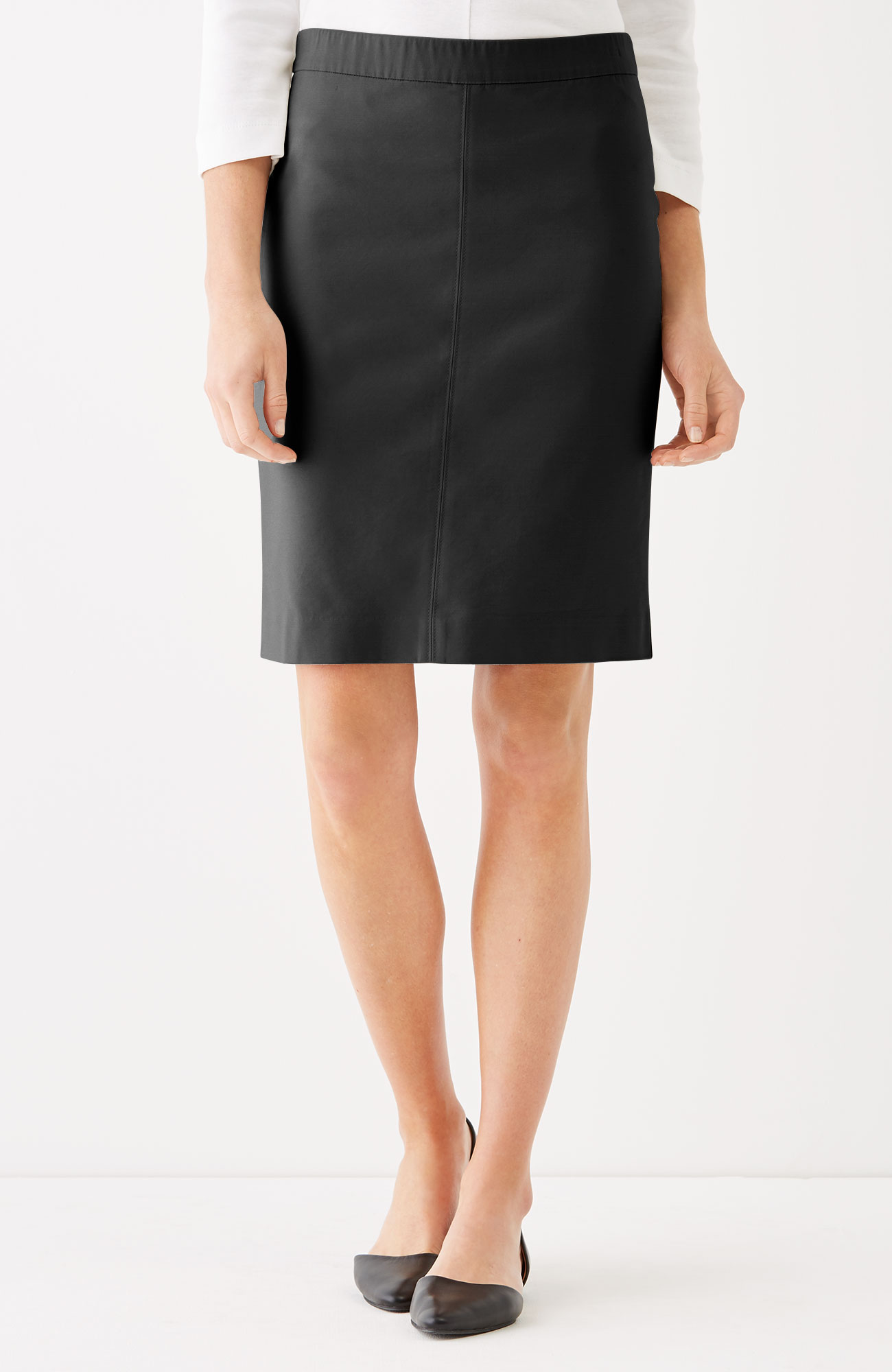 essential cotton-stretch pencil skirt | J.Jill