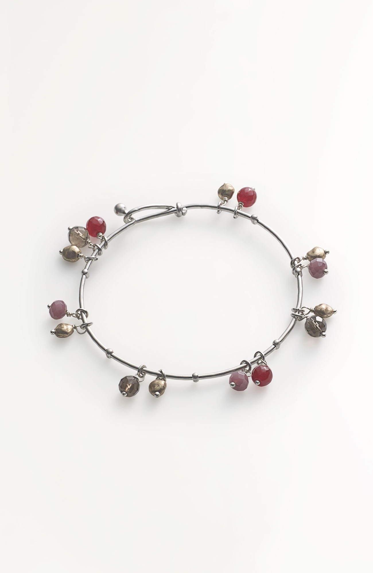 semiprecious beaded bangle