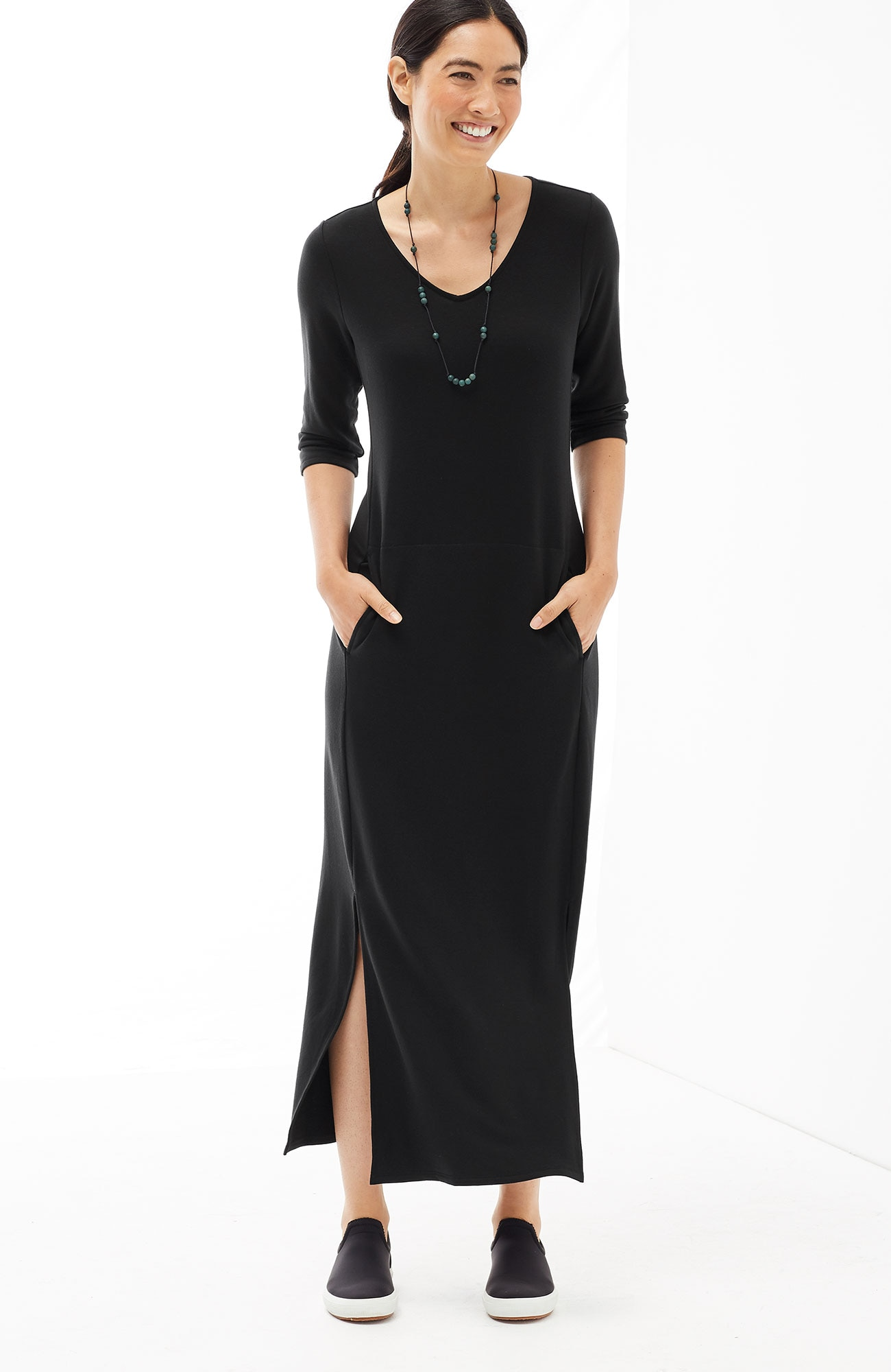 Pure Jill Luxe Tencel® V-neck maxi dress