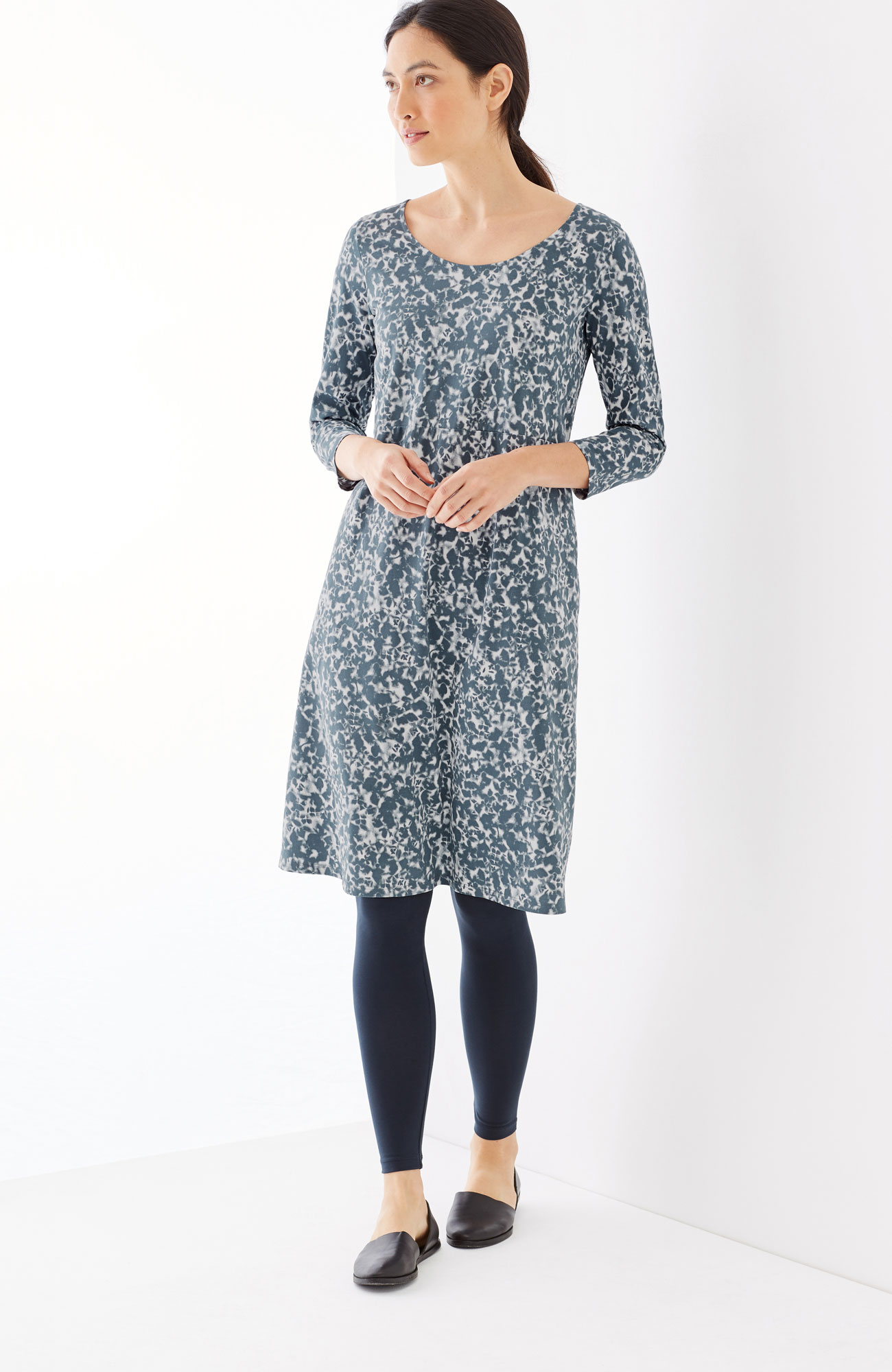 Pure Jill printed A-line knit dress