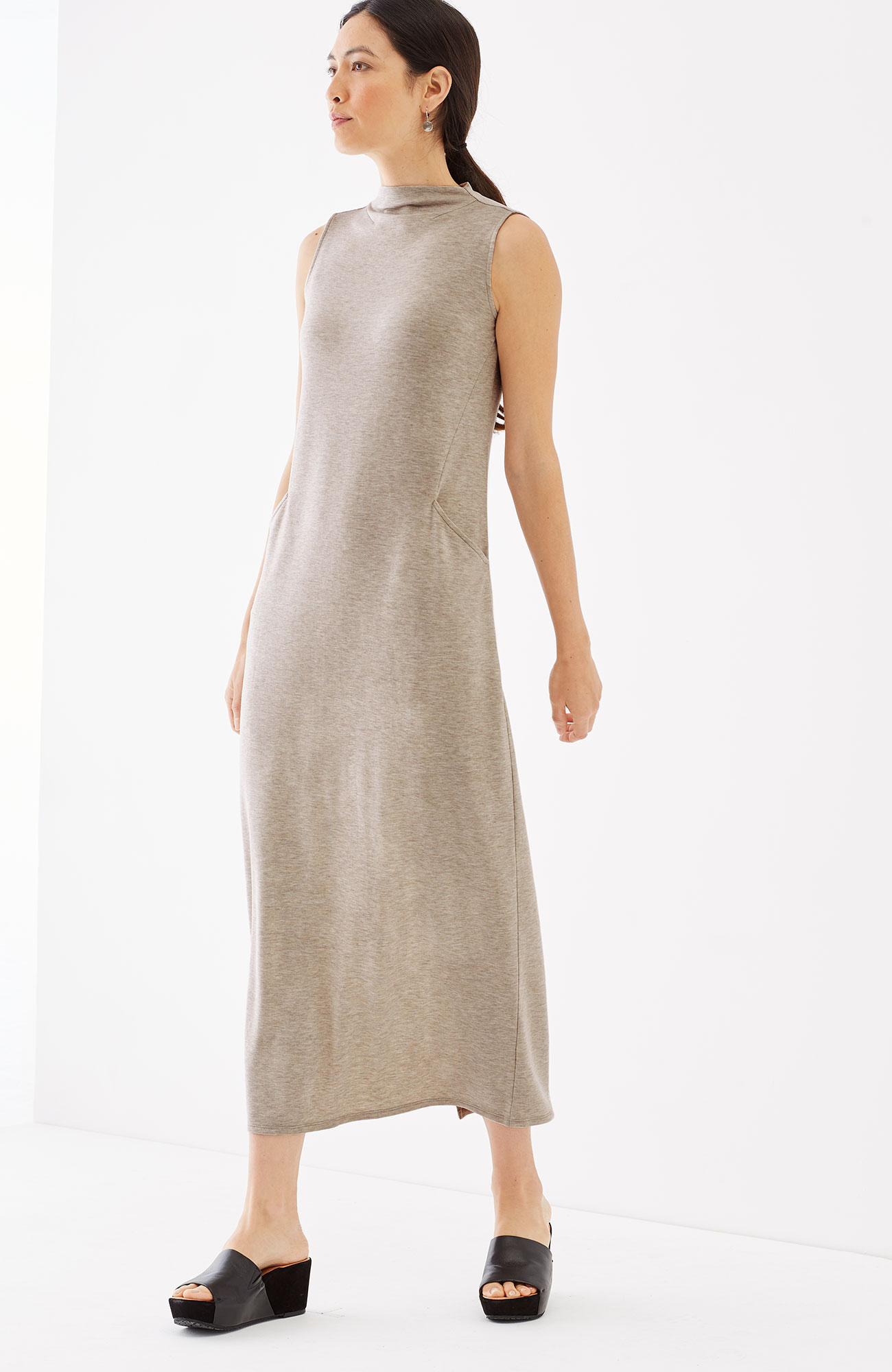 Pure Jill Luxe Tencel® mock-neck maxi dress