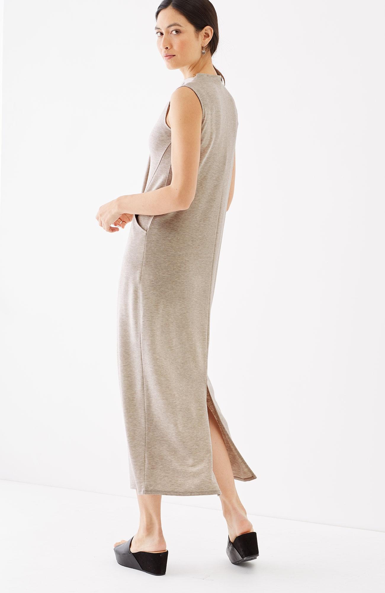 Pure Jill Luxe Tencel® mock-neck maxi dress