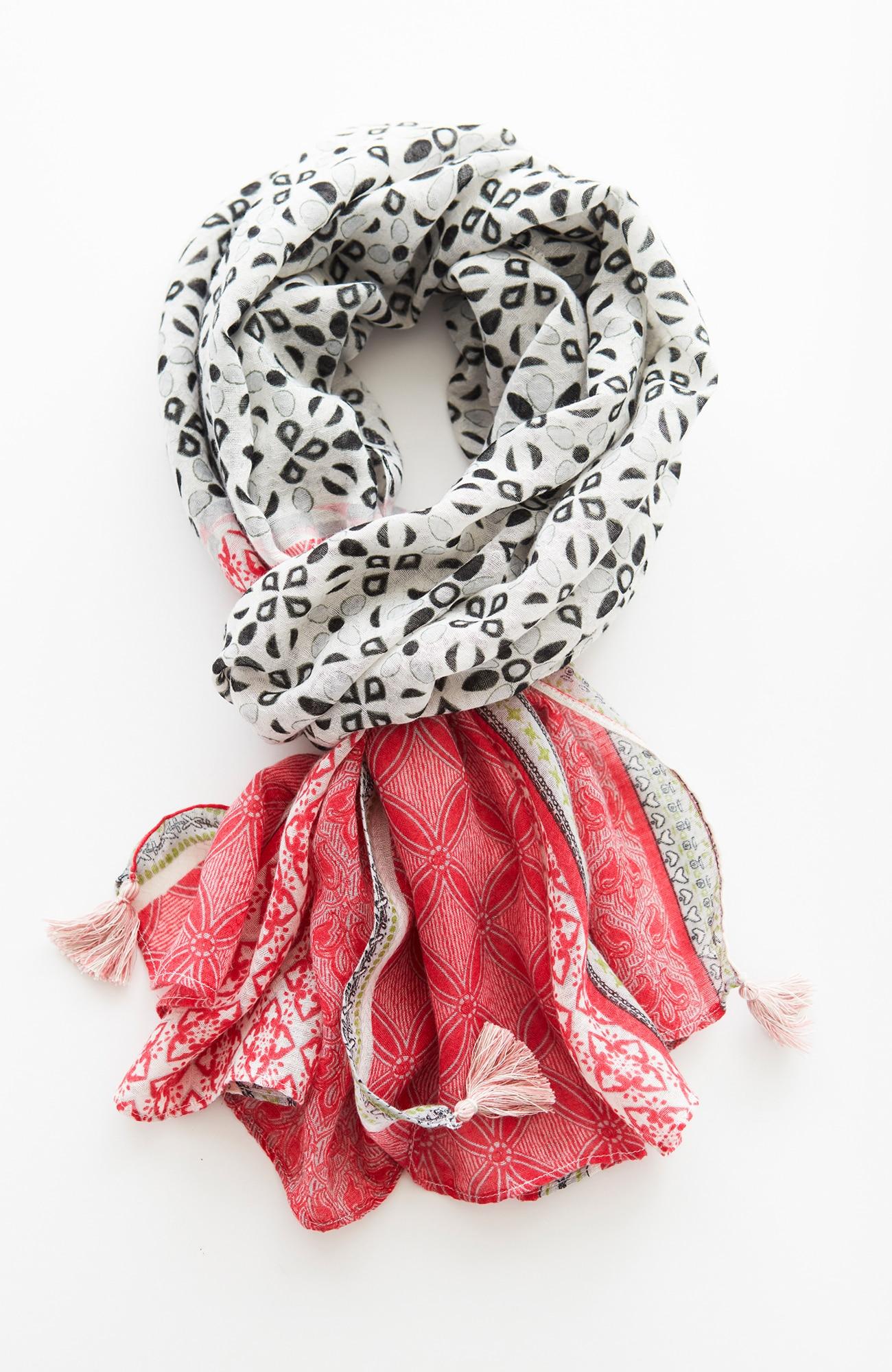 floral & foulard scarf