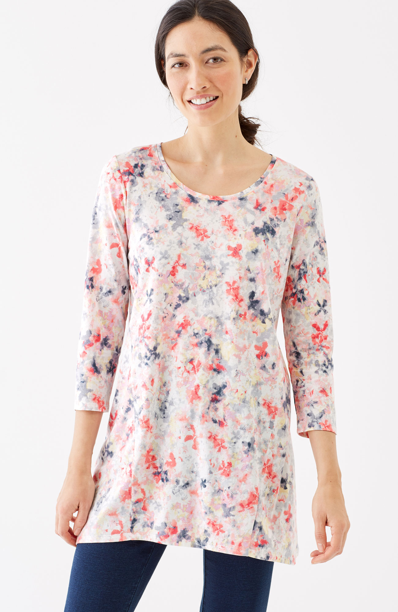Pure Jill printed swing tunic