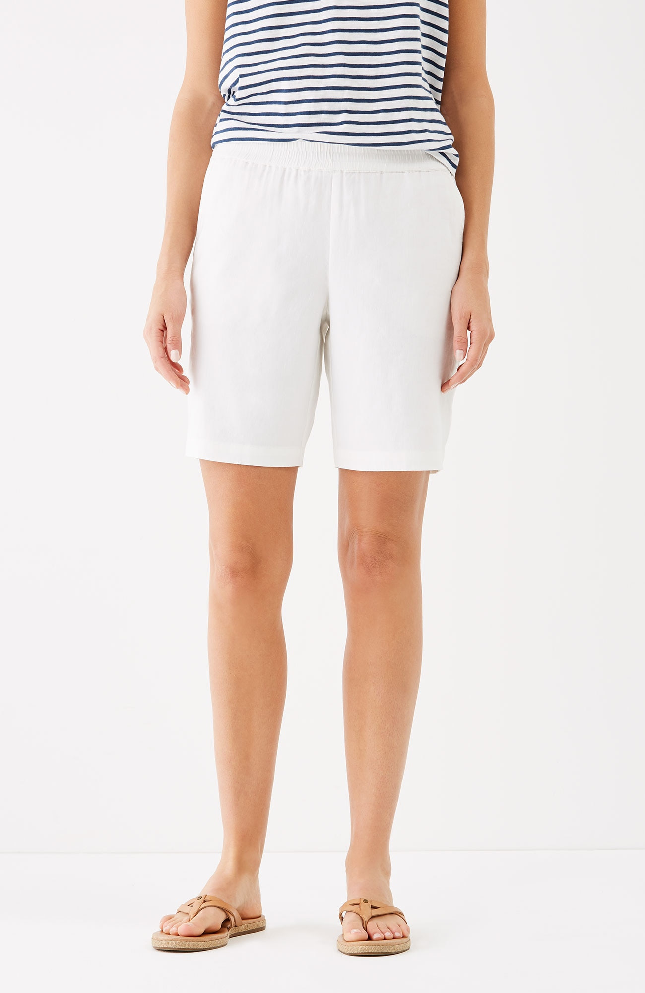 easy linen-stretch shorts