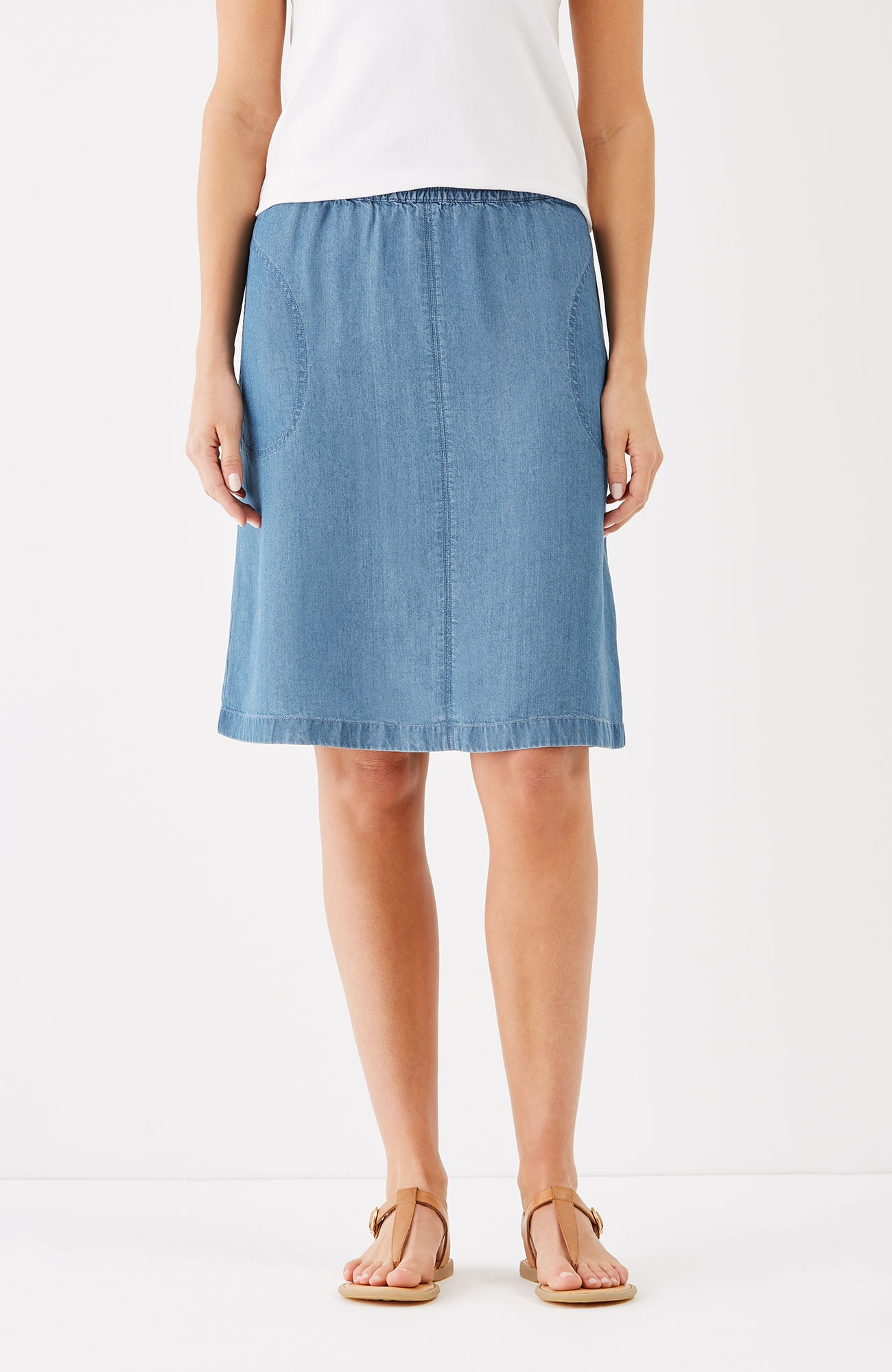 Tencel® indigo skirt