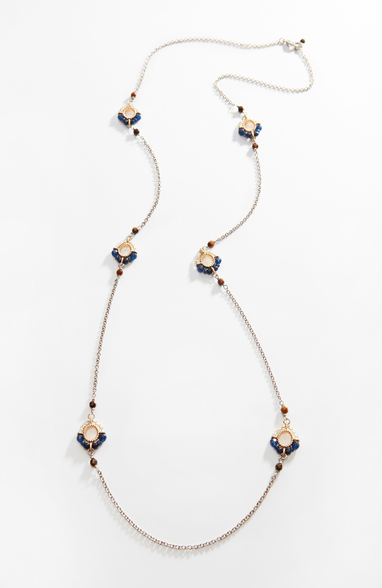 semiprecious station necklace