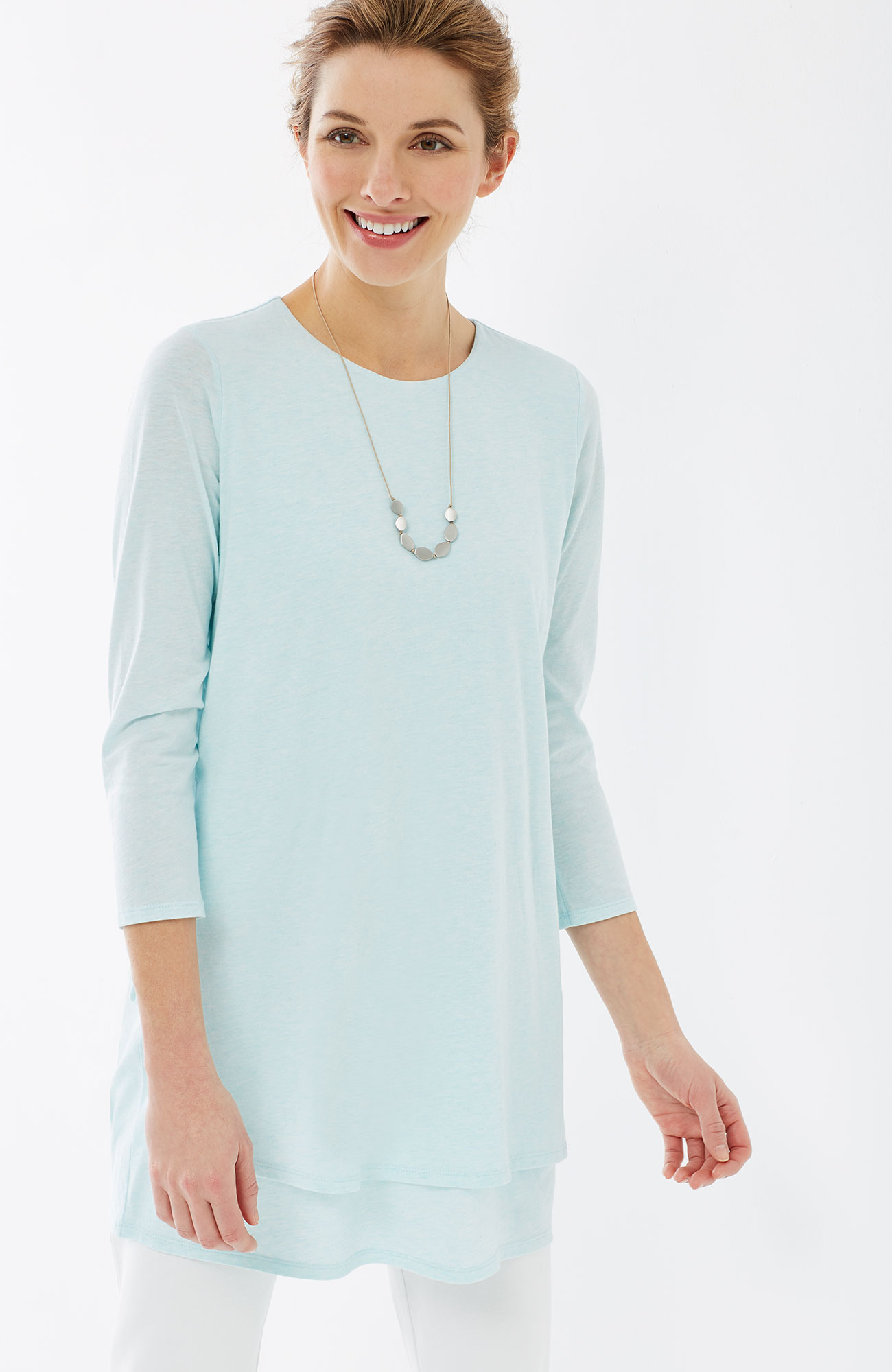 Pure Jill layered side-tie tunic