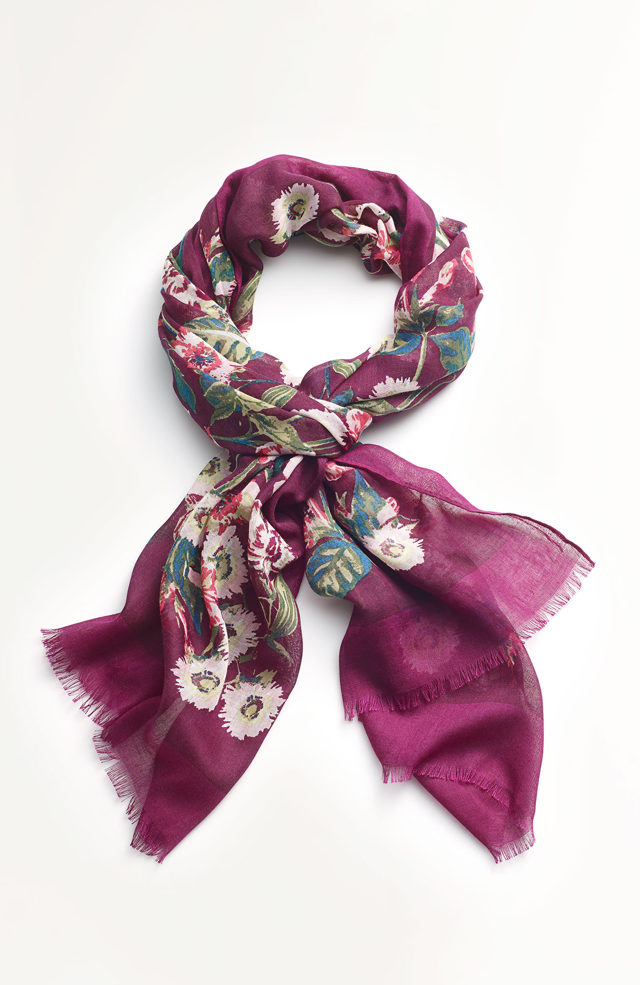 Compassion Fund floral scarf