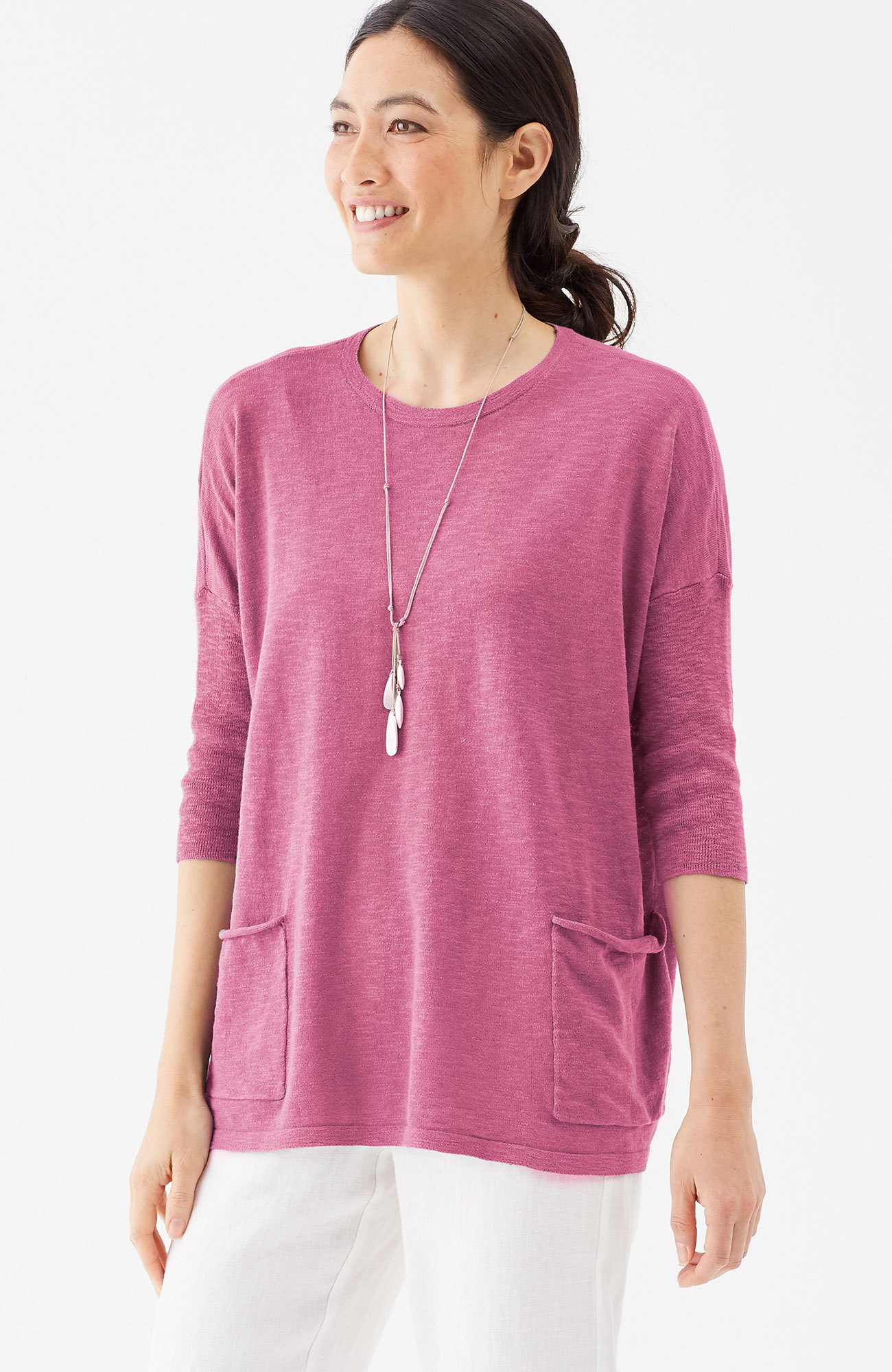 Pure Jill cotton & linen easy pullover