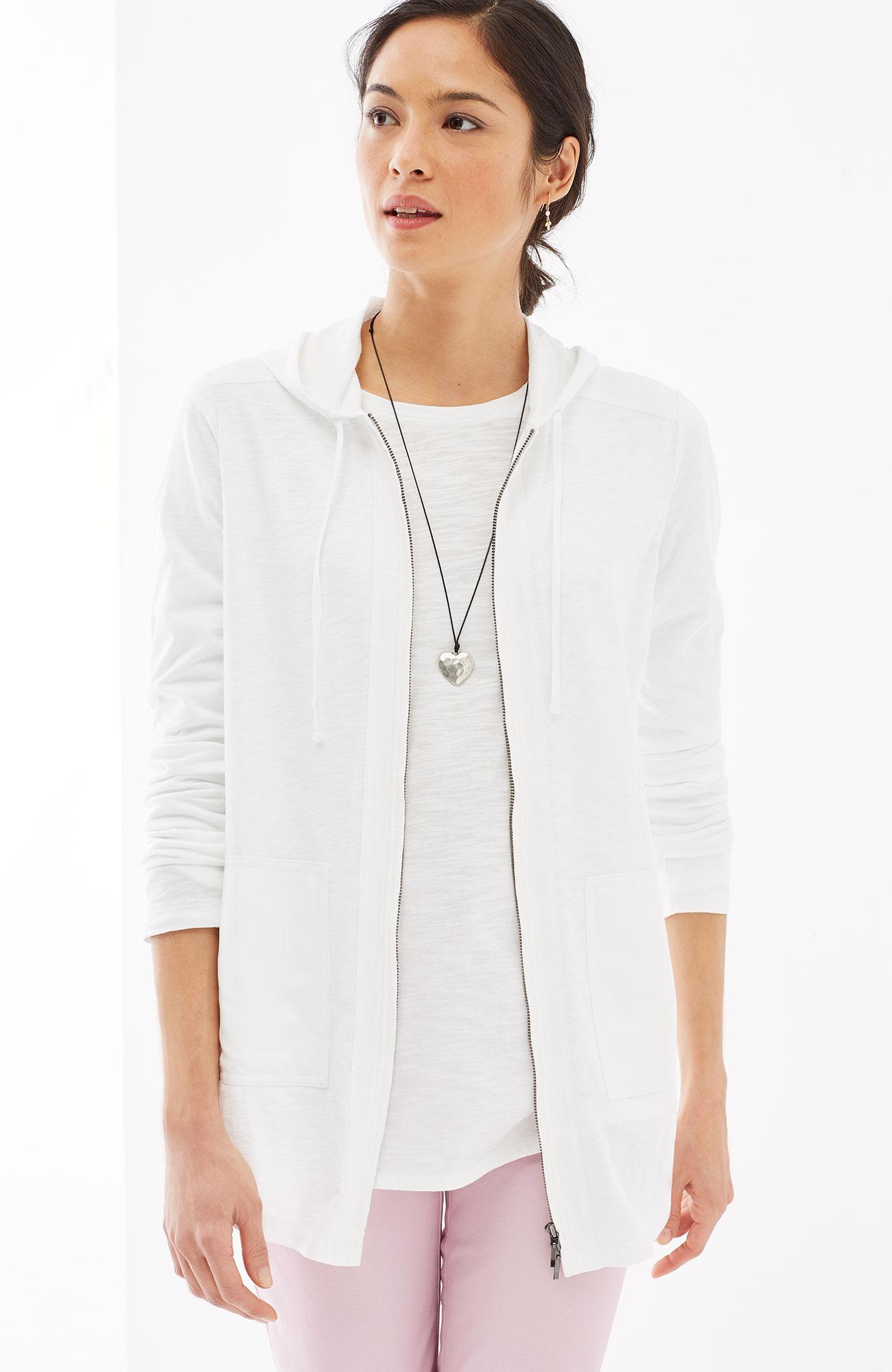 mixed-media hoodie