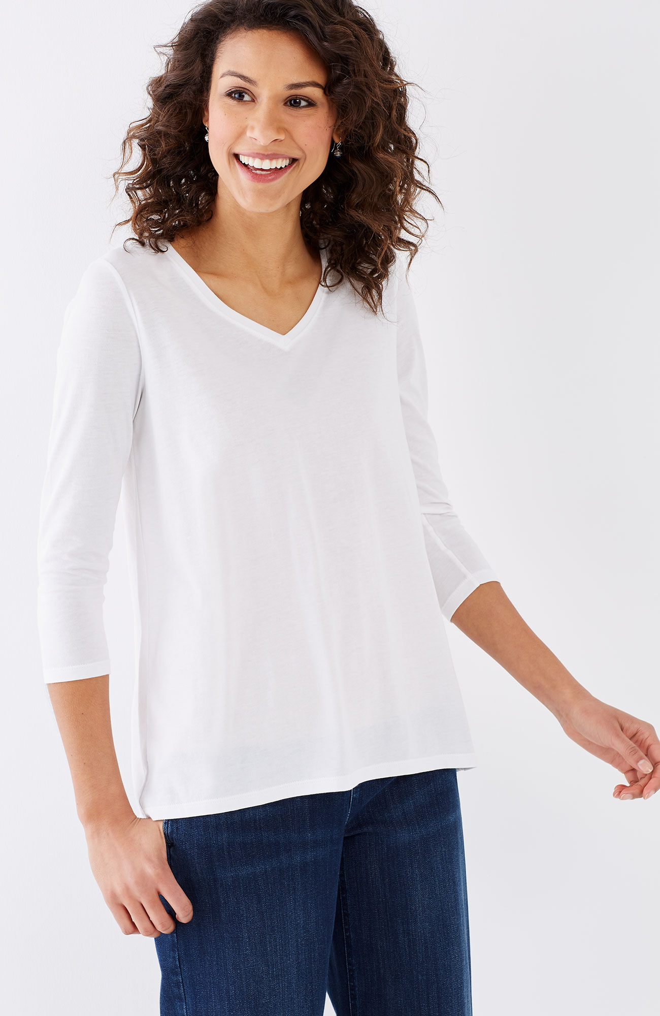 pleat-back eyelet-inset tee