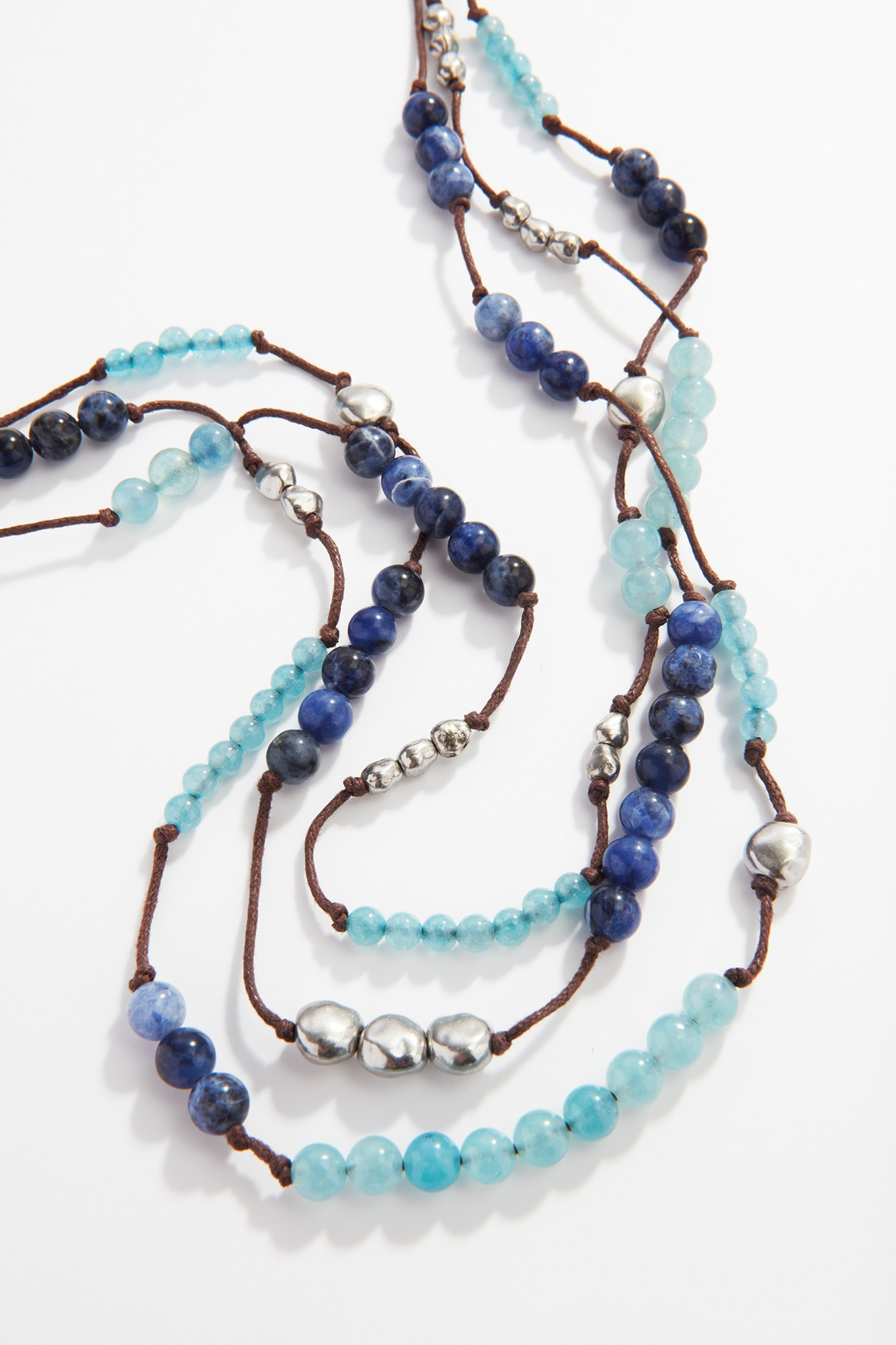 blue skies cascading necklace